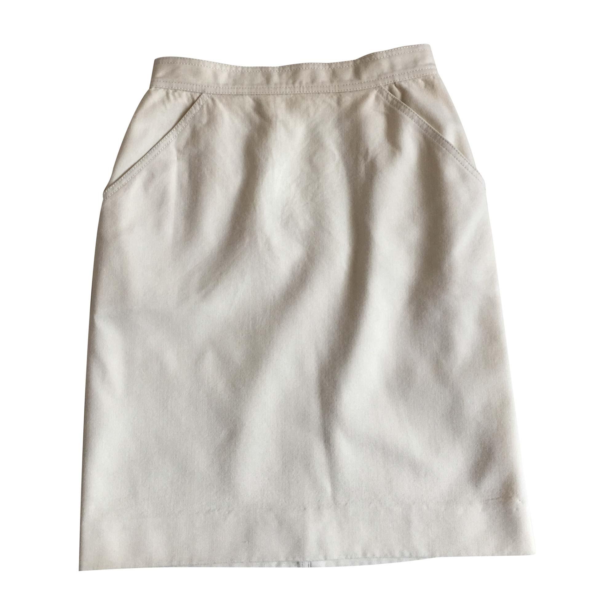 Jupe courte COURRÈGES Blanc, blanc cassé, écru
