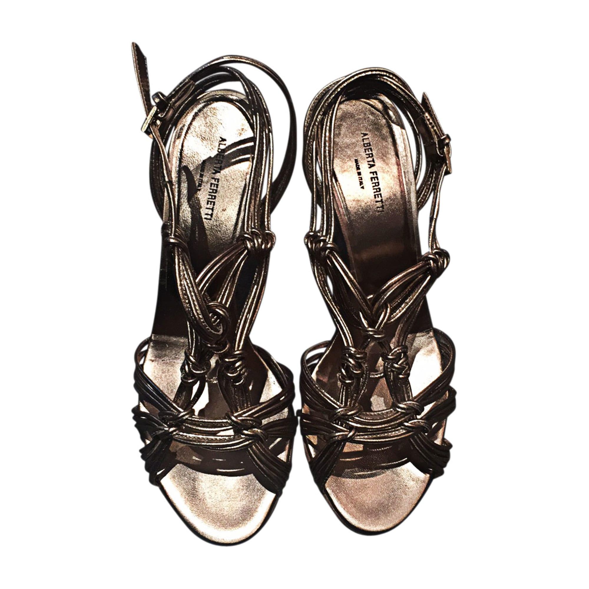 Sandales à talons PHILOSOPHY DI ALBERTA FERRETTI Doré, bronze, cuivre