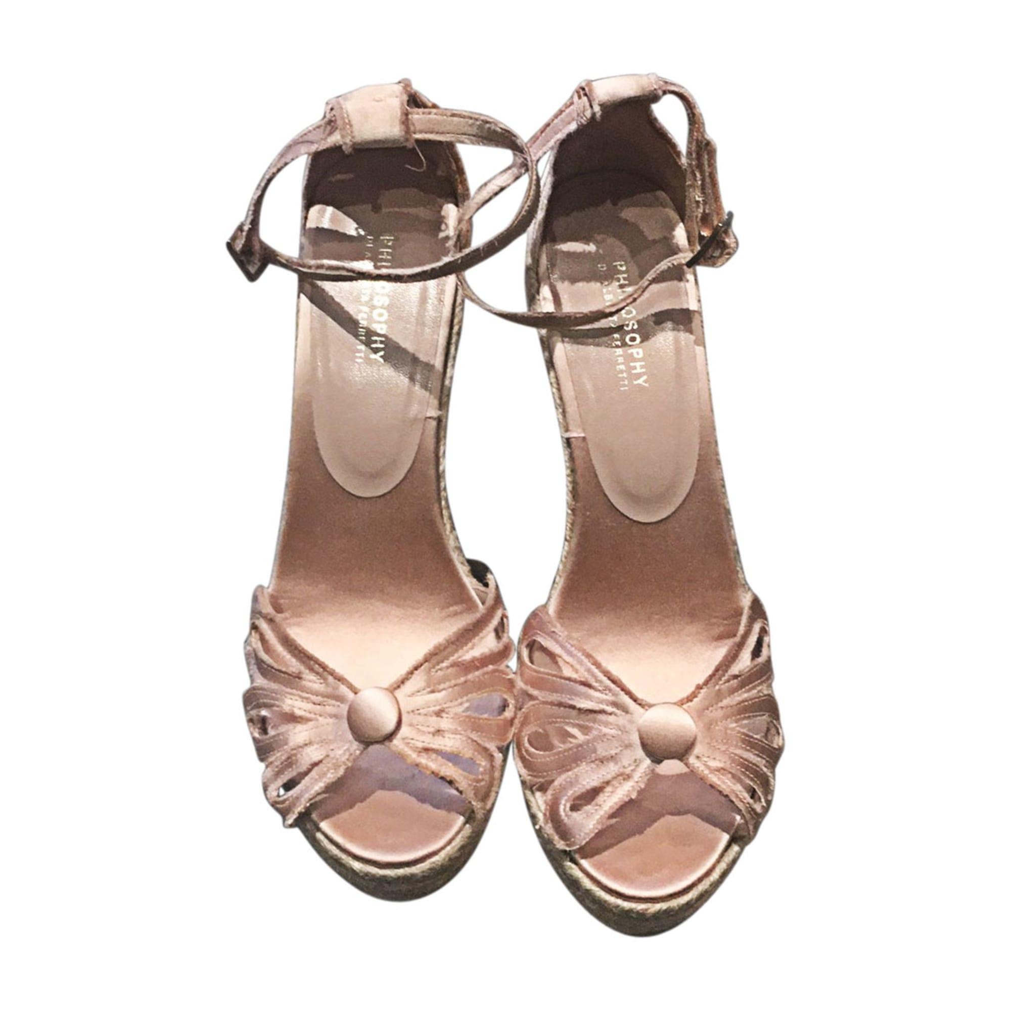 Sandales compensées PHILOSOPHY DI ALBERTA FERRETTI Rose, fuschia, vieux rose