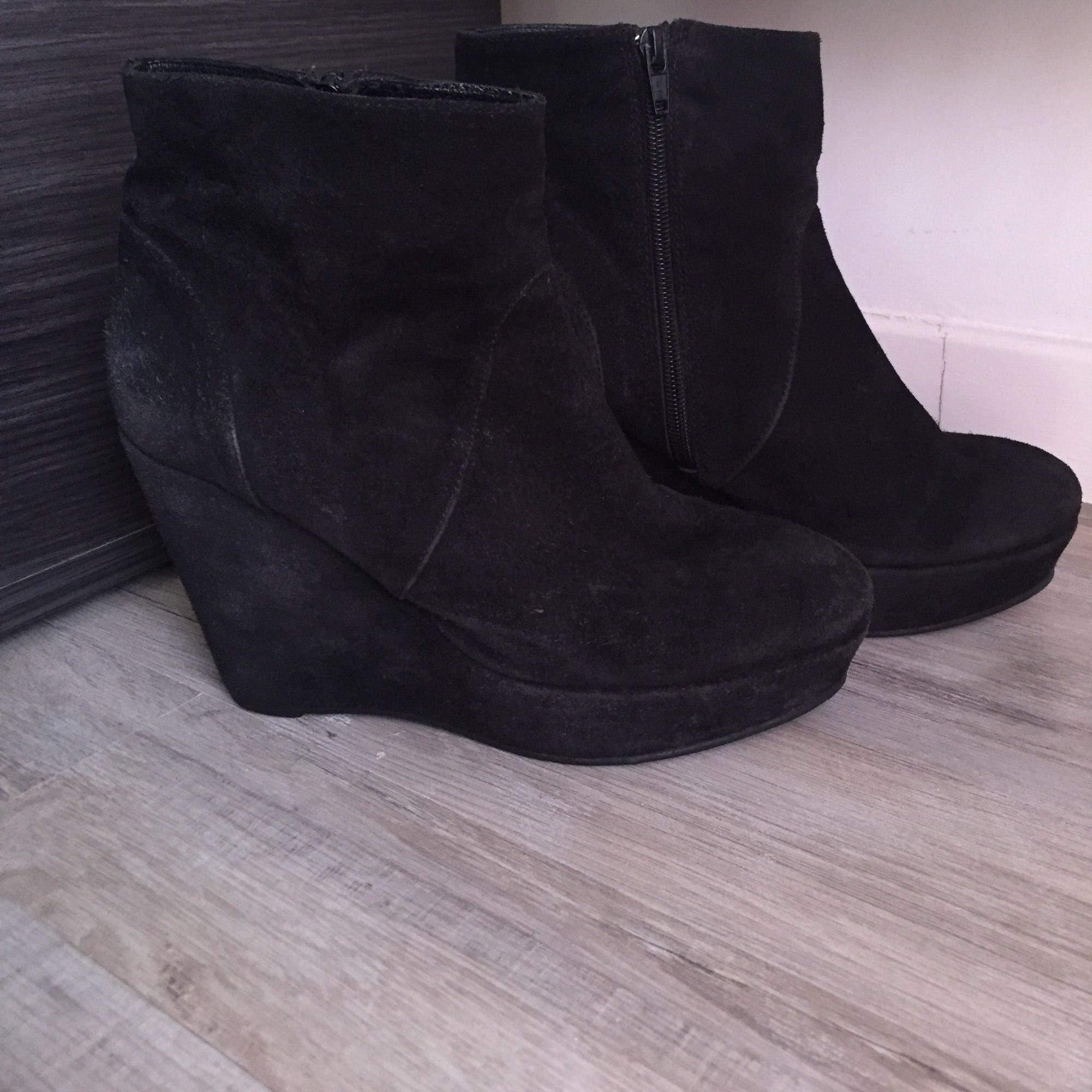 Bottines & low boots à compensés MINELLI Noir