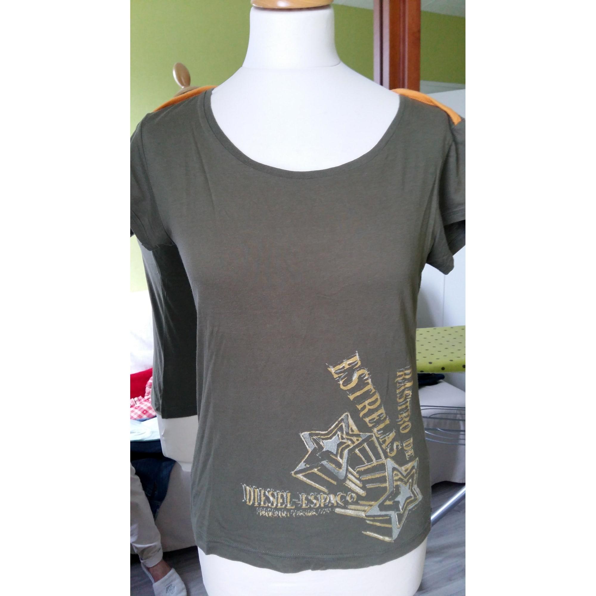 Top, tee-shirt DIESEL Kaki