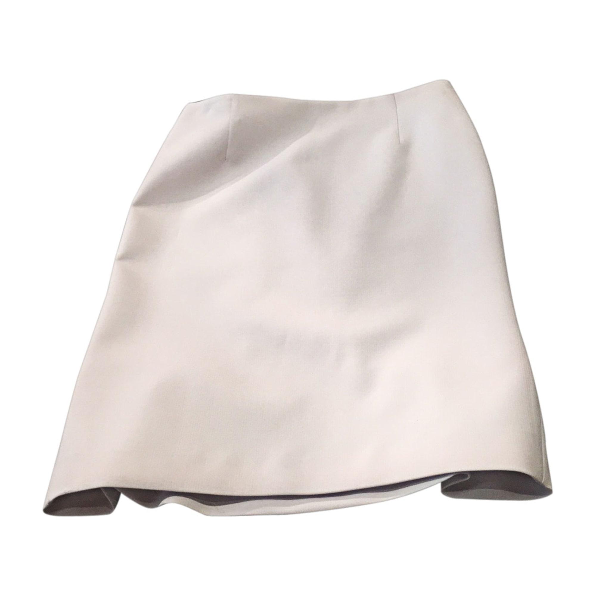 Jupe mi-longue ALBERTA FERRETTI Blanc, blanc cassé, écru