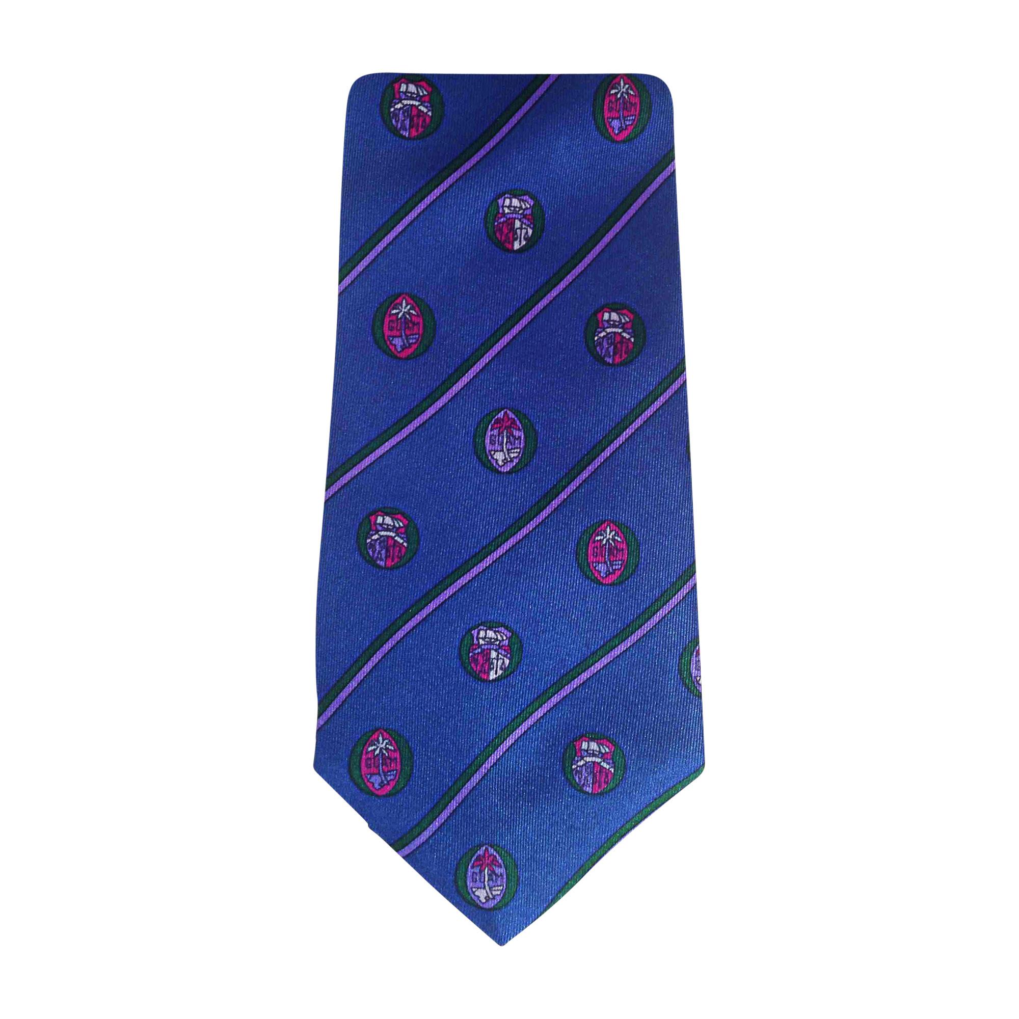 Krawatte YVES SAINT LAURENT Blue with motives