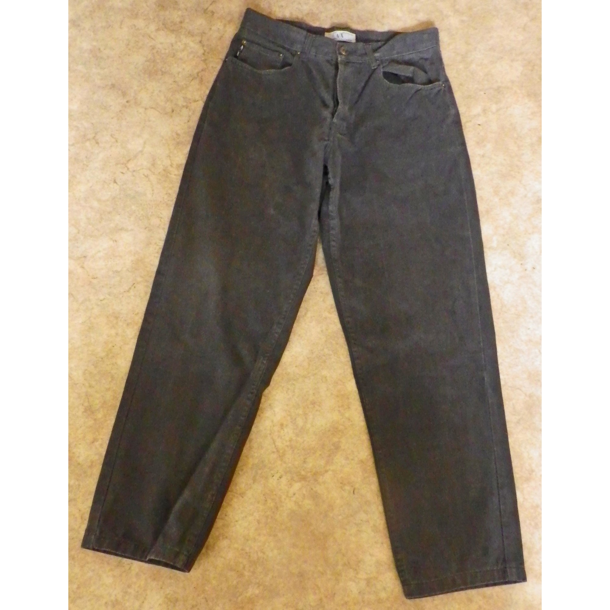 Jeans droit ARMANI EXCHANGE Gris, anthracite