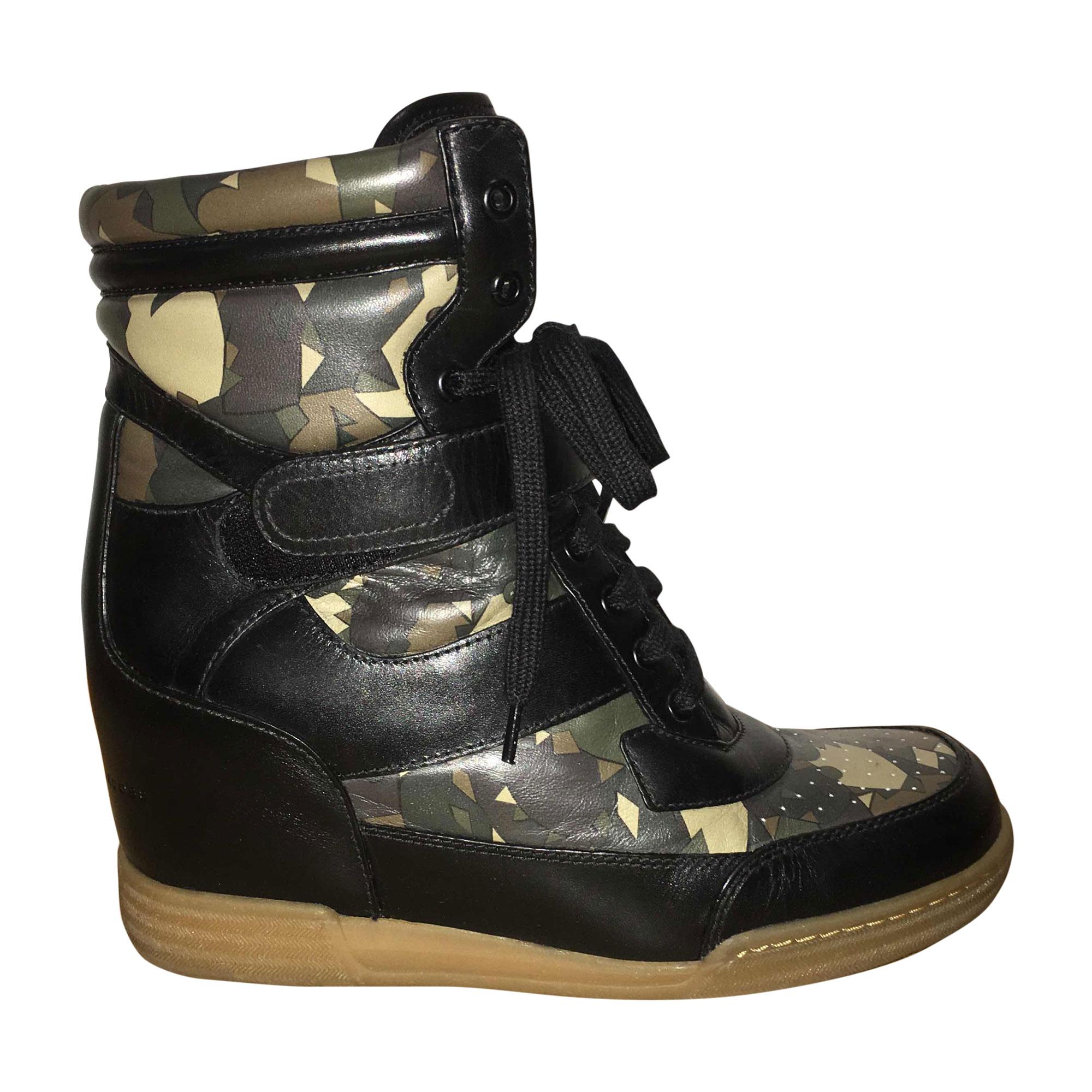 Bottines & low boots à compensés MARC JACOBS Kaki
