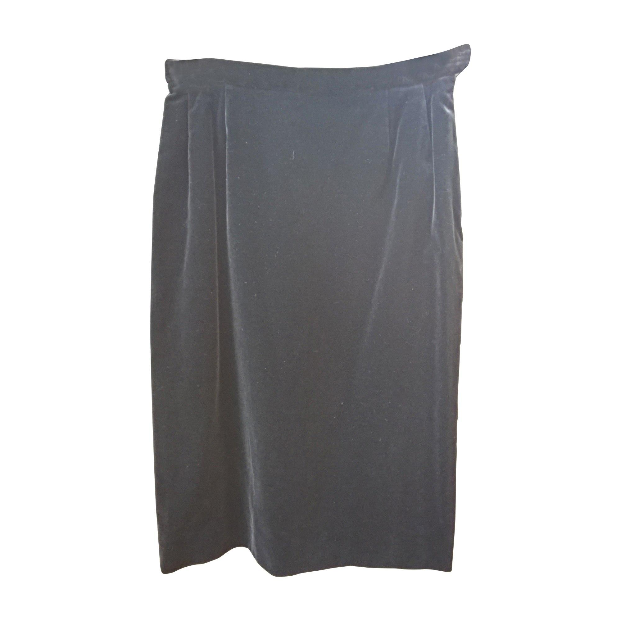 Jupe mi-longue YVES SAINT LAURENT Noir