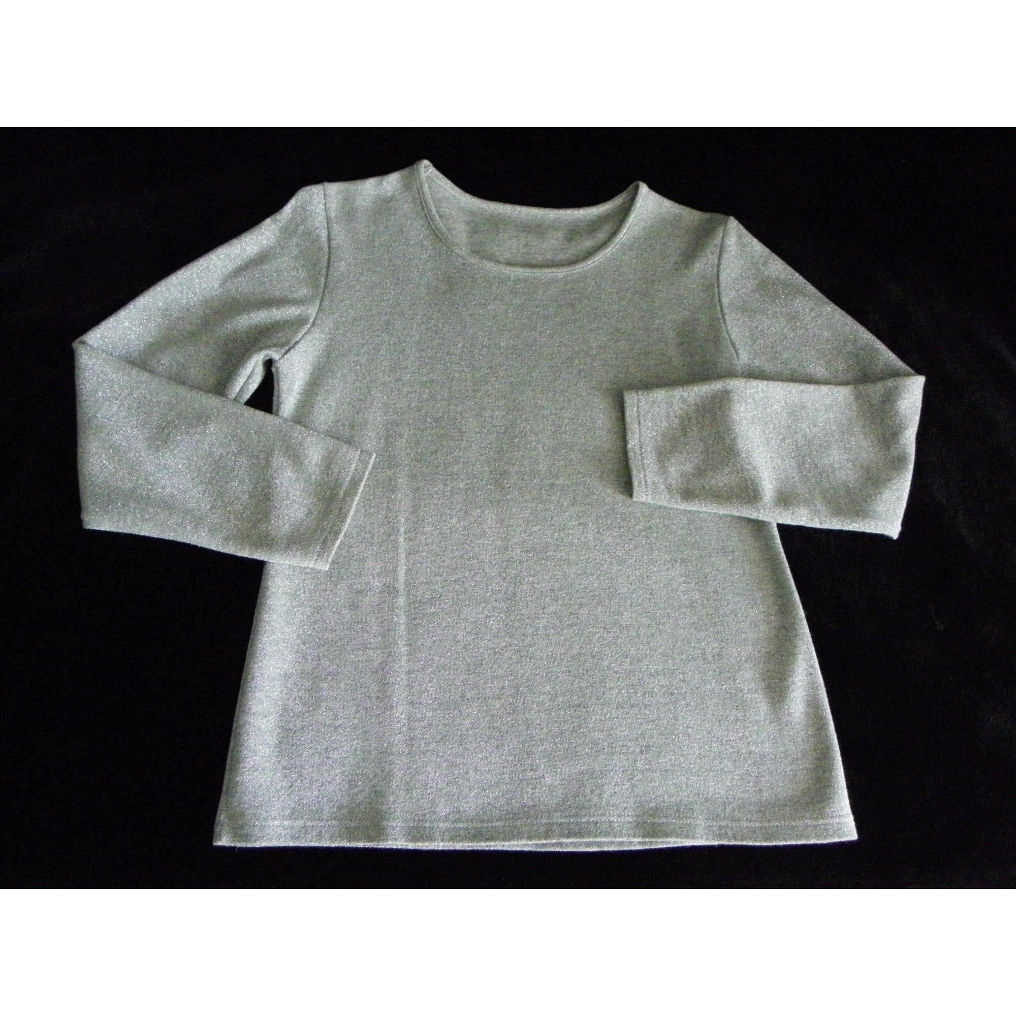 Top, tee-shirt MARQUE INCONNUE Argenté, acier