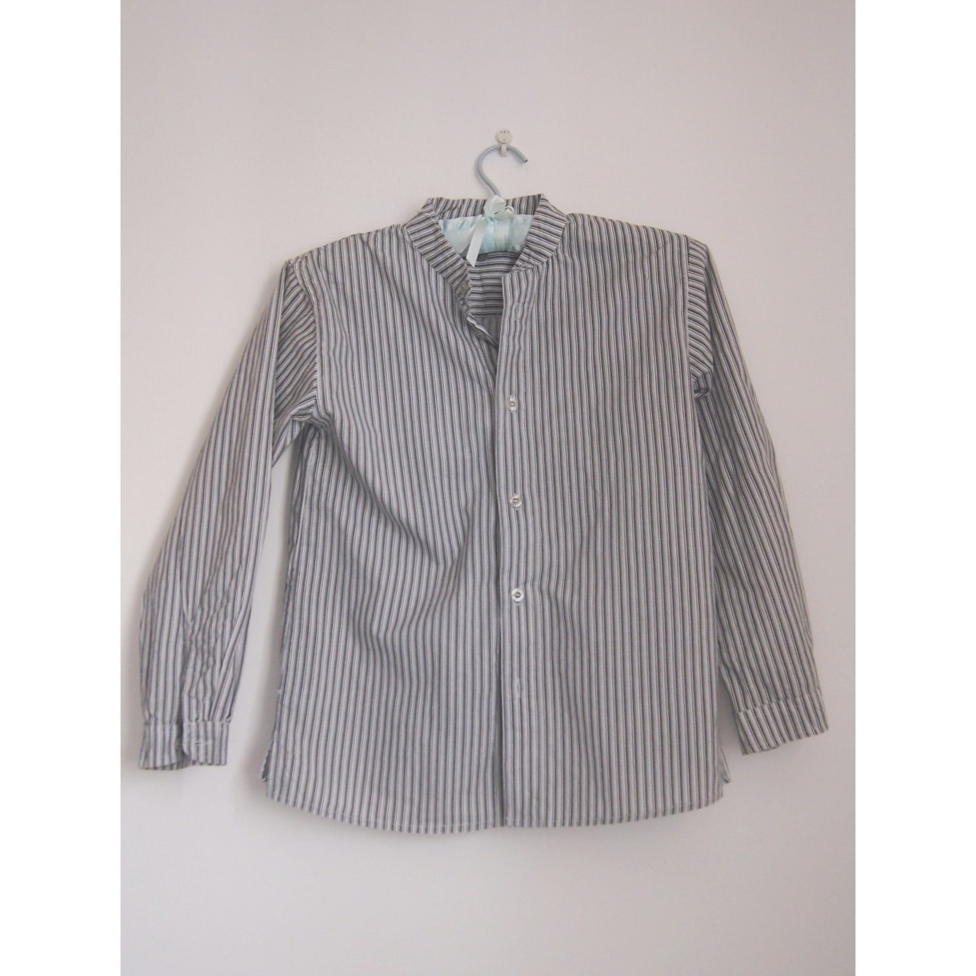 Chemise IN EXTENSO RAYE BLANC ET GRIS