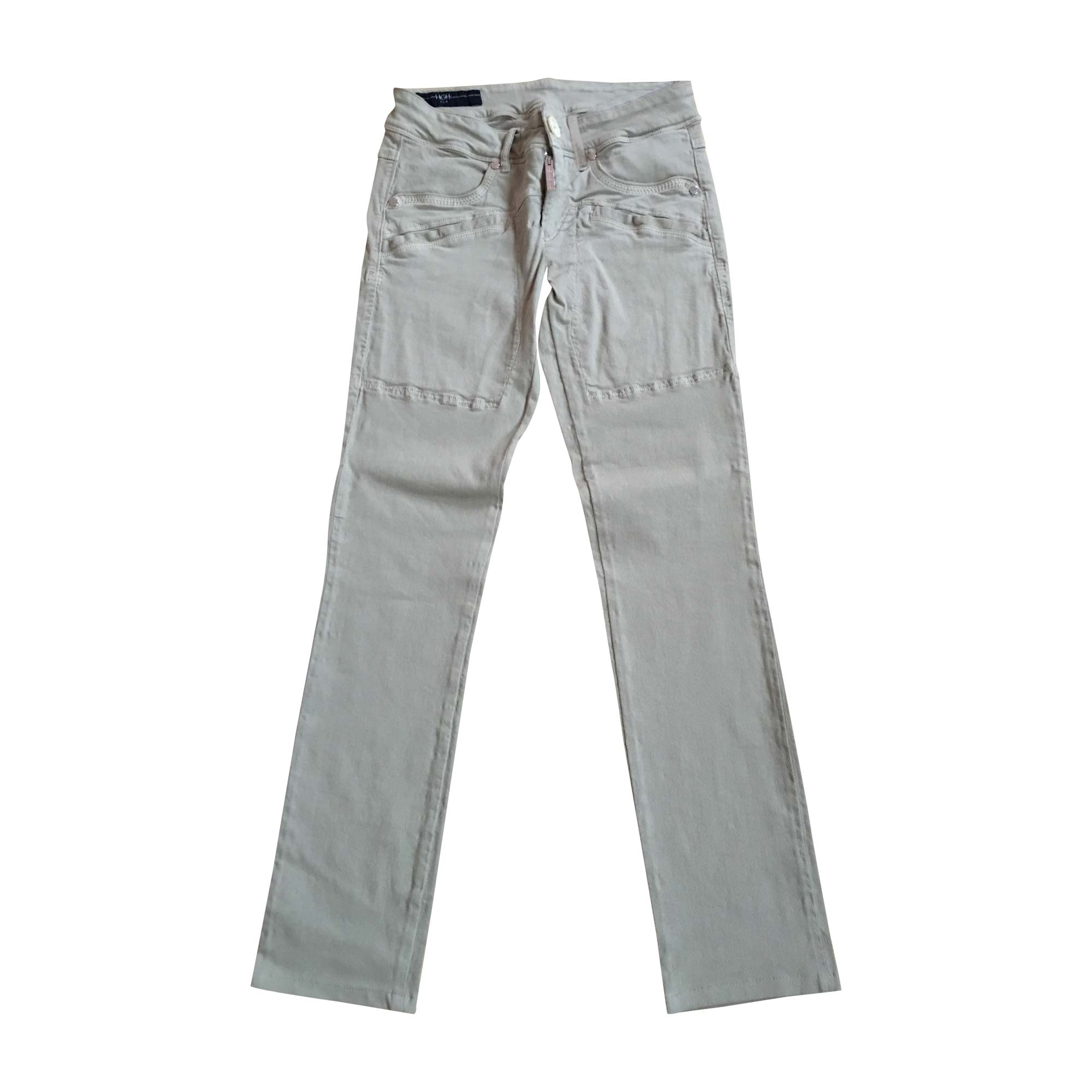 Pantalon droit HIGH Beige, camel