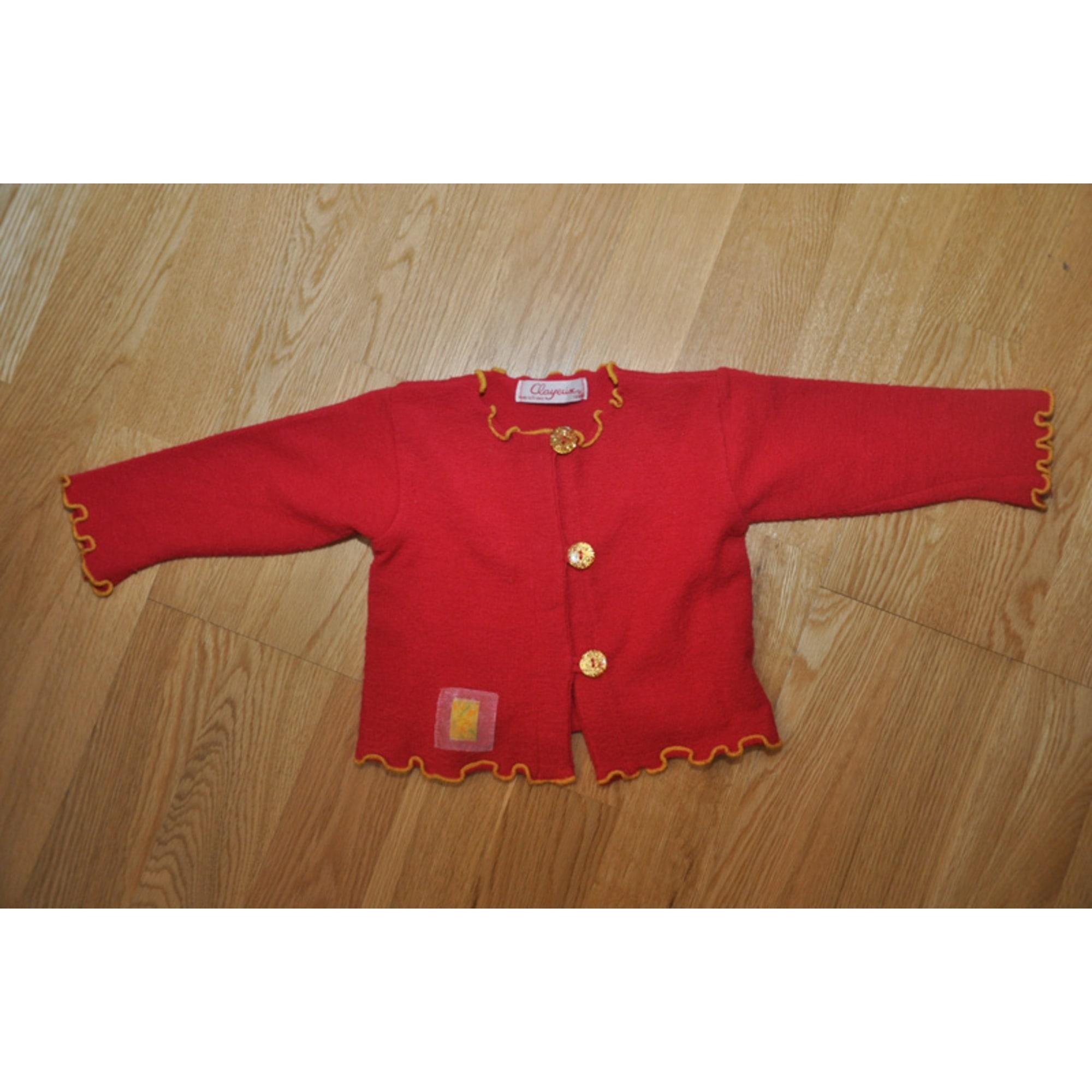 Gilet, cardigan CLAYEUX Rouge, bordeaux