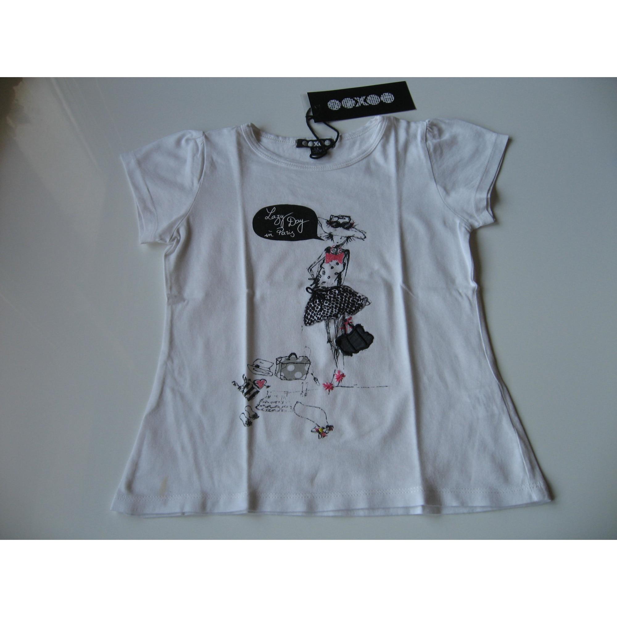 Top, Tee-shirt OOXOO Blanc, blanc cassé, écru