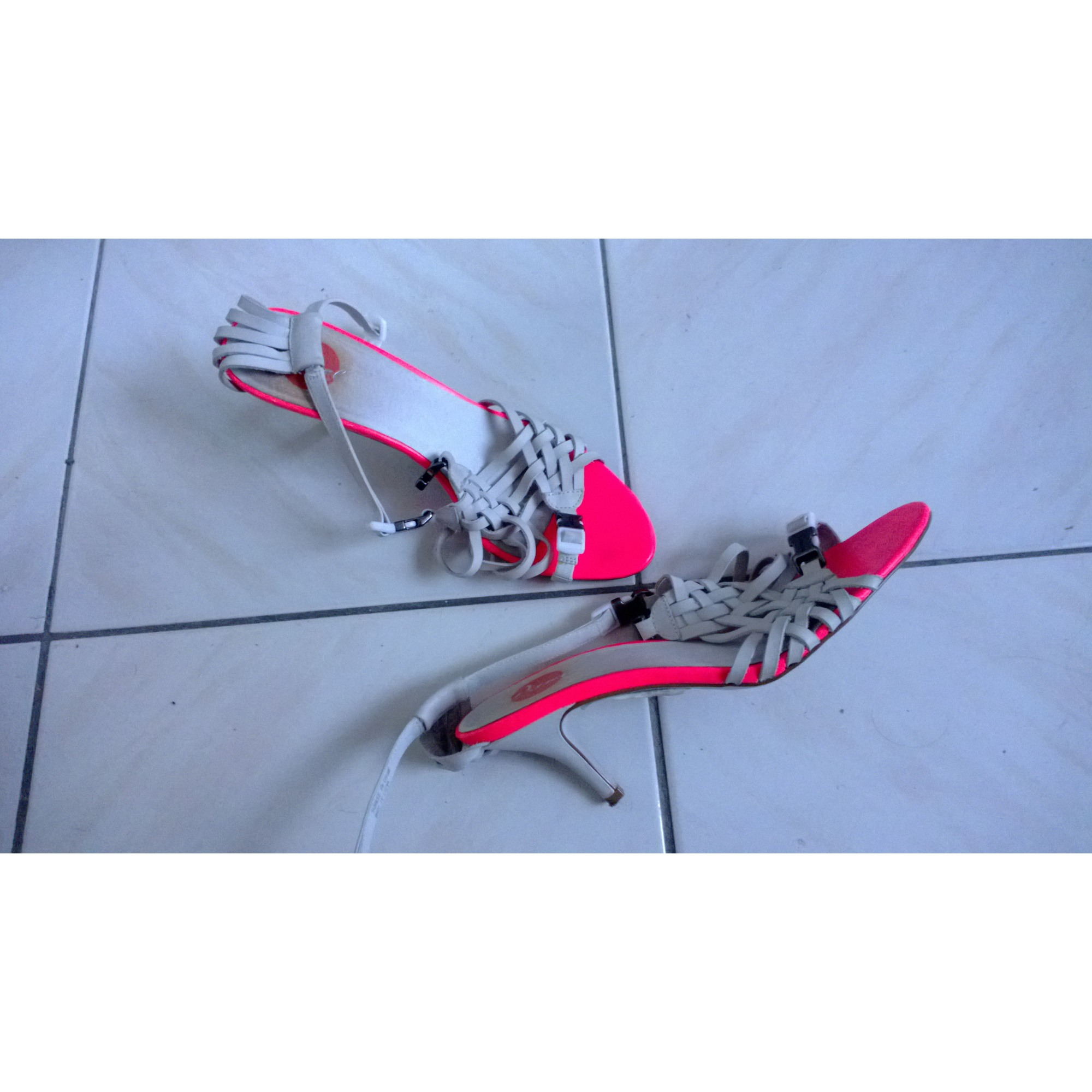 Sandales à talons DIESEL Blanc, blanc cassé, écru
