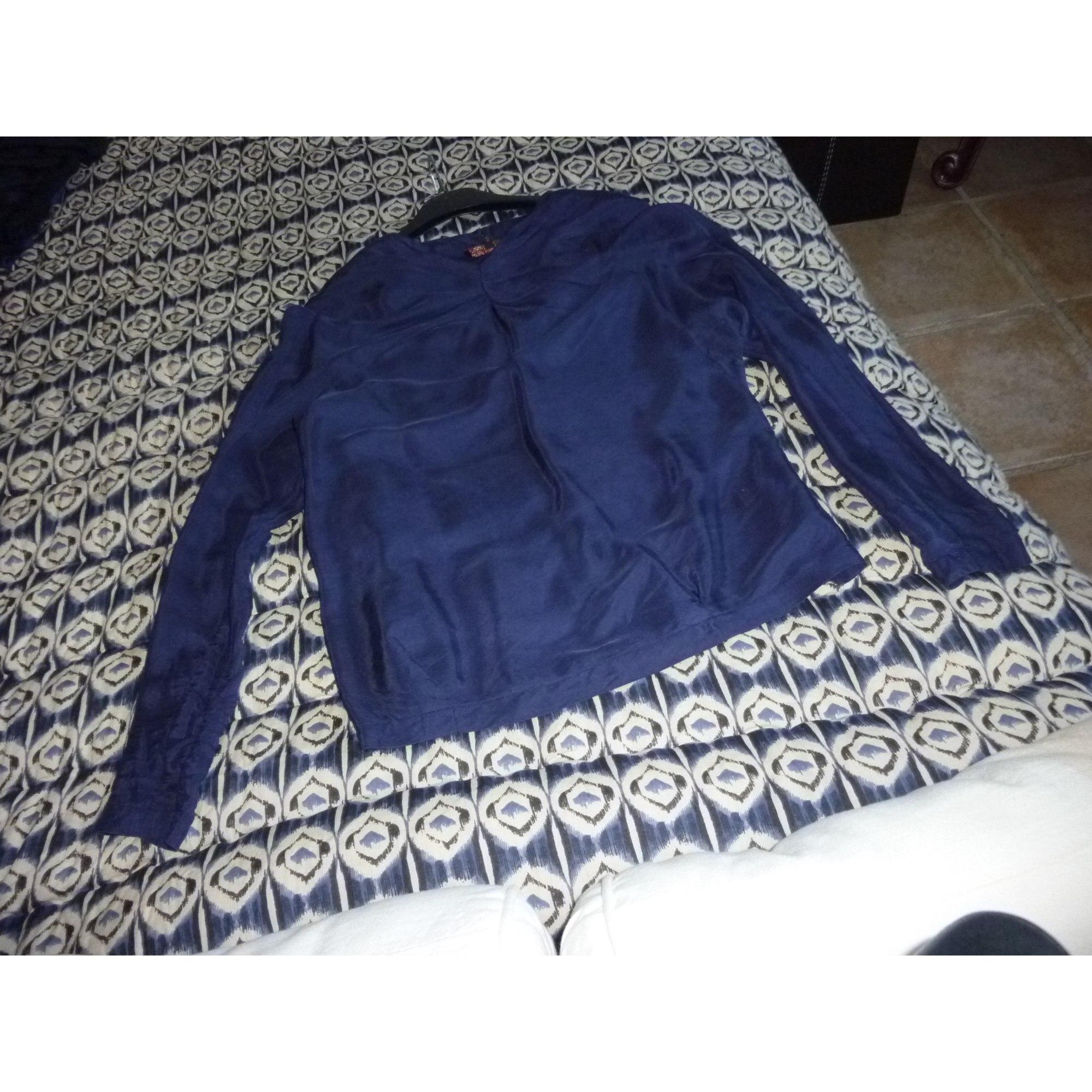 Blouse MAJE Bleu, bleu marine, bleu turquoise