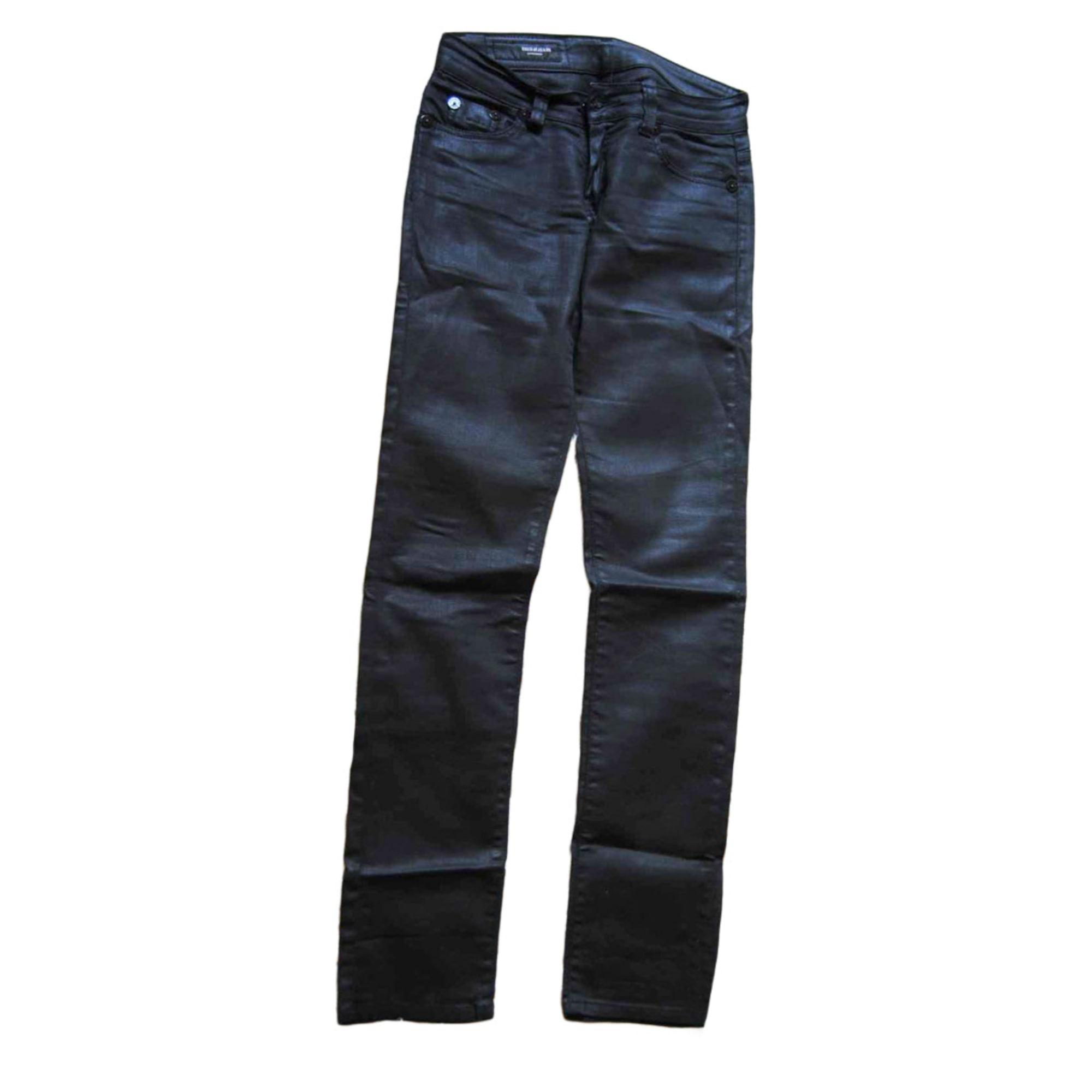 Pantalon slim, cigarette USED Noir