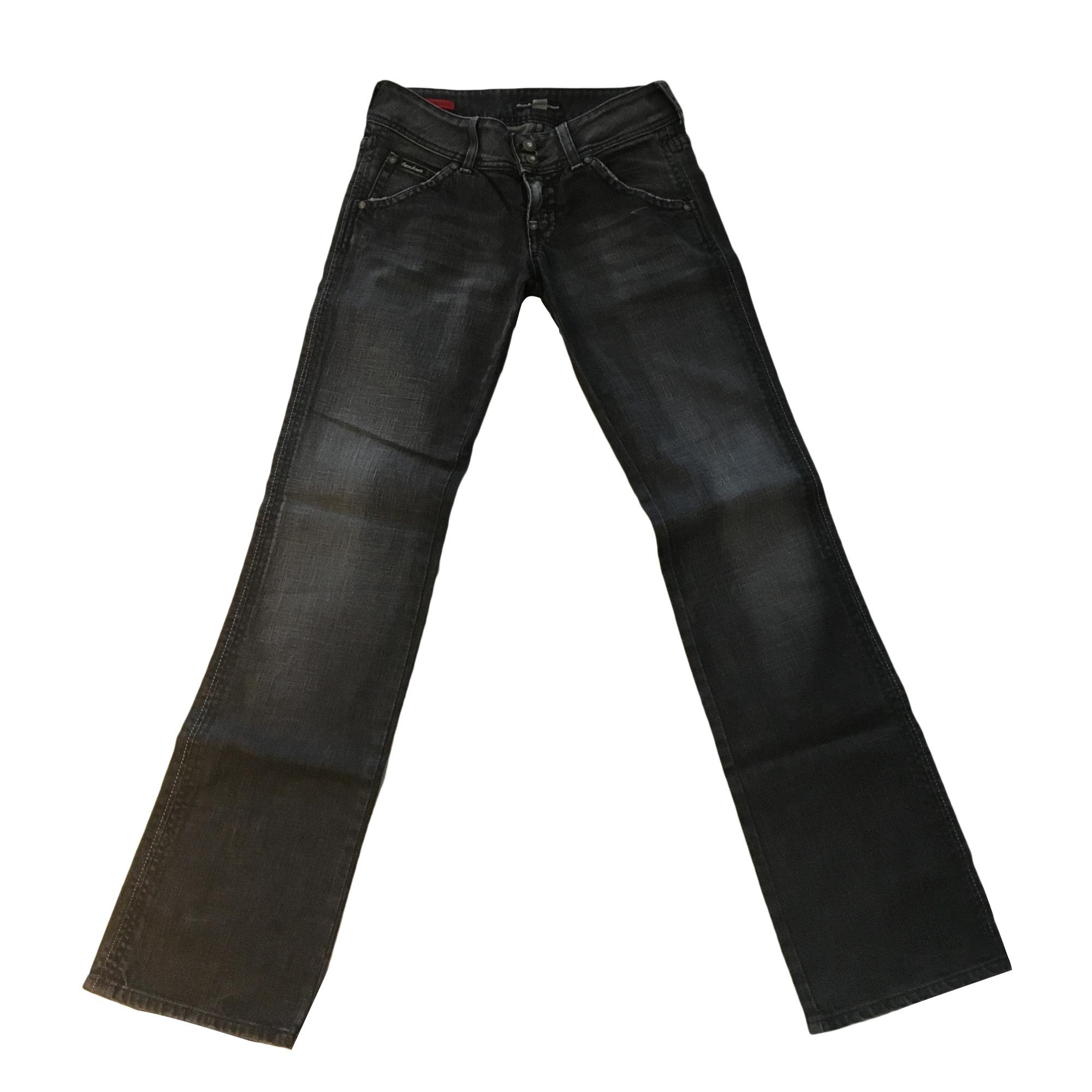 Jeans droit GUESS Noir