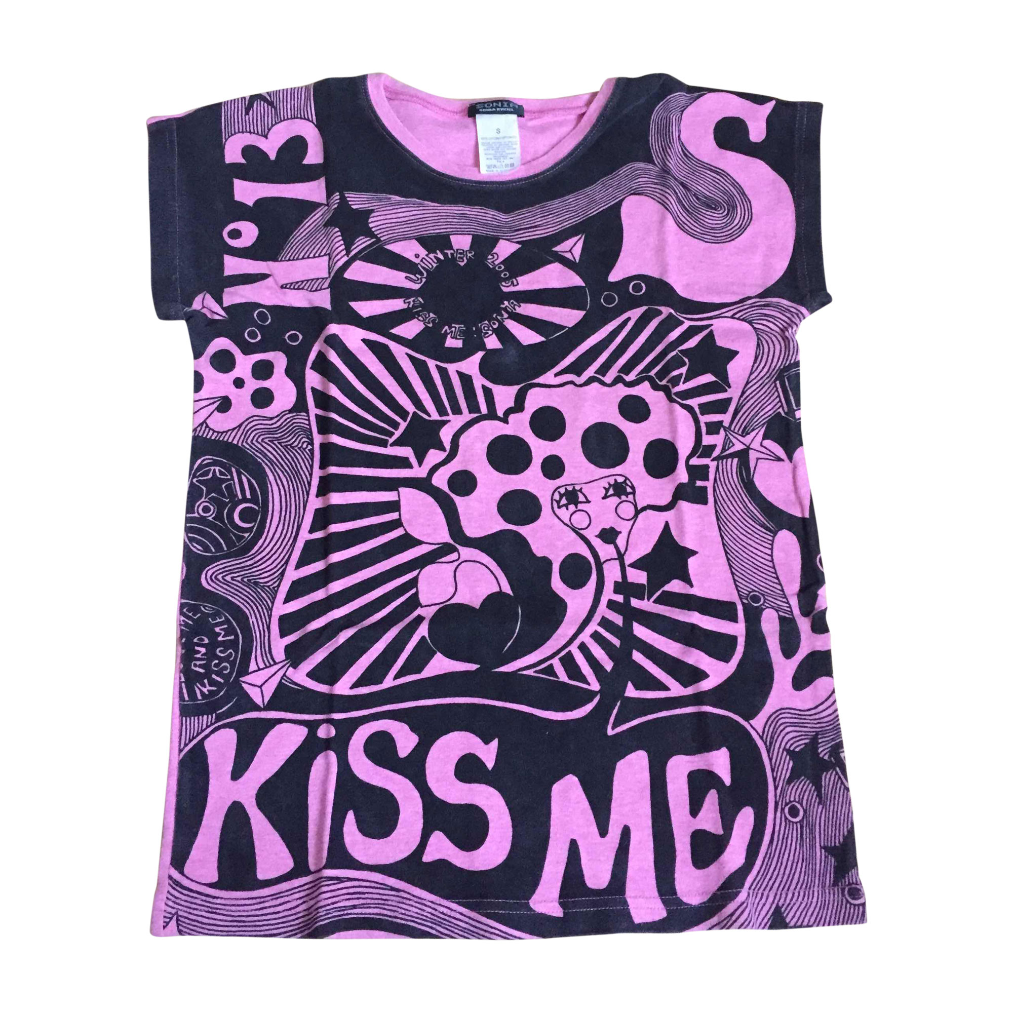 Top, tee-shirt SONIA RYKIEL Rose, fuschia, vieux rose