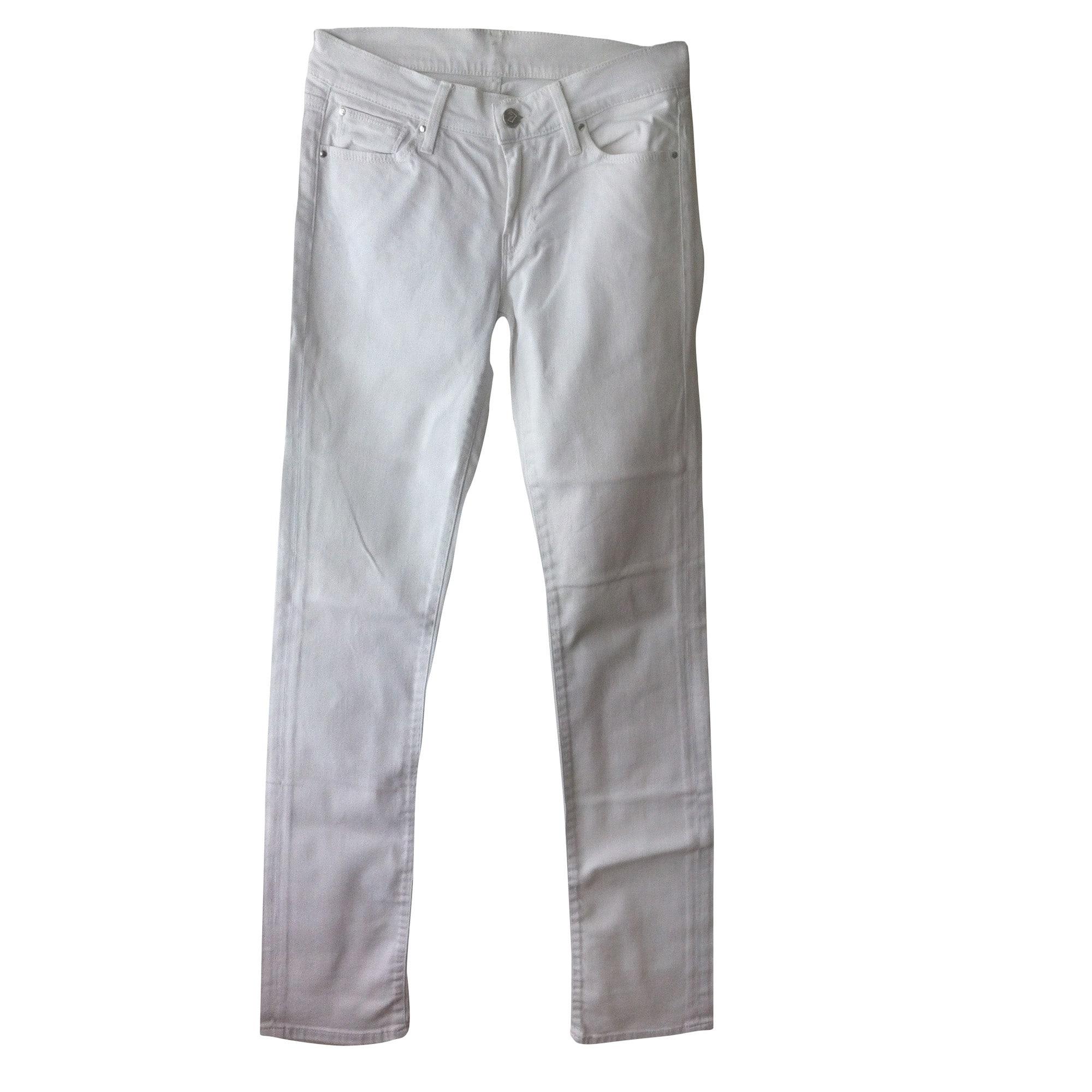 Jeans droit 7 FOR ALL MANKIND Blanc, blanc cassé, écru