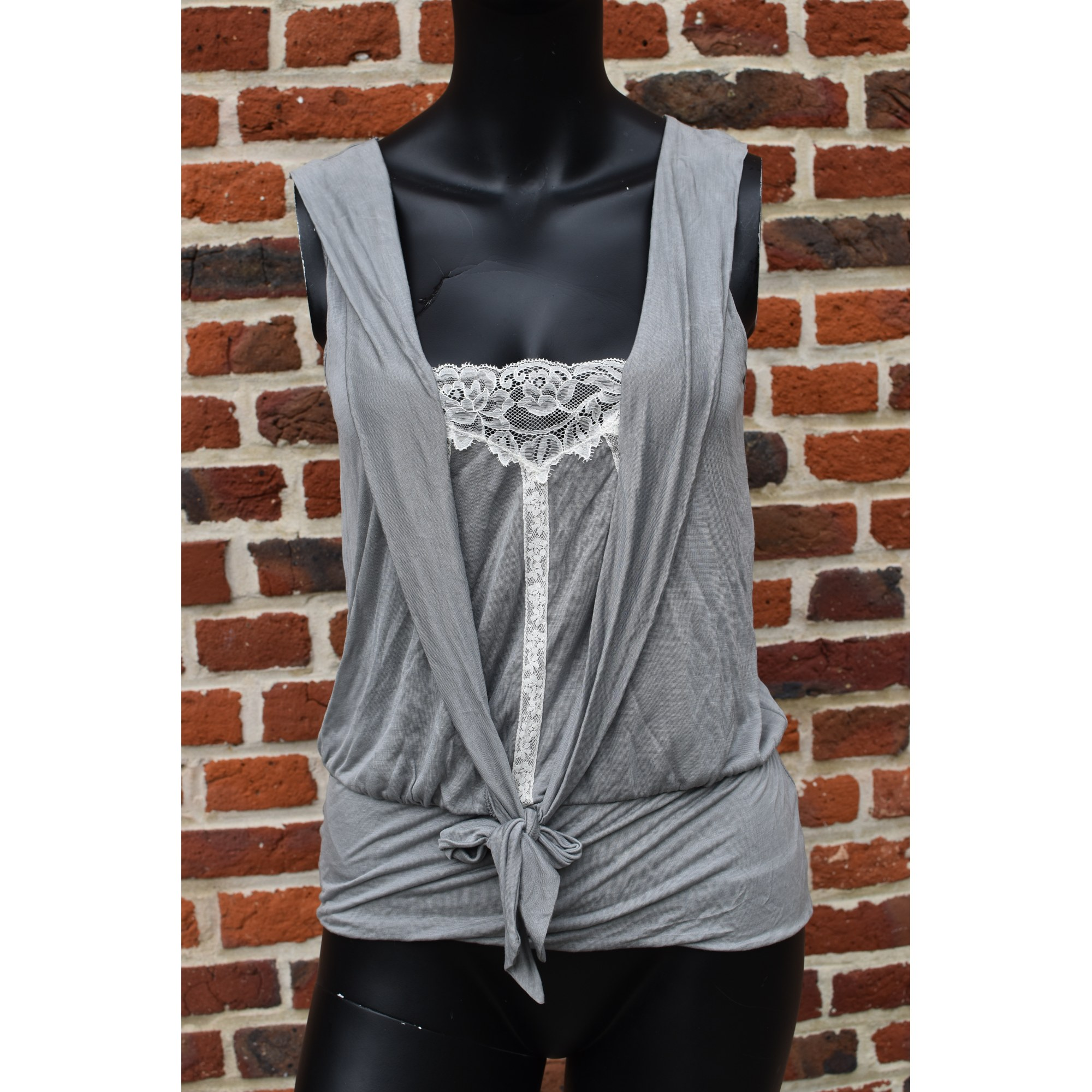 Top, tee-shirt KOOKAI Gris, anthracite