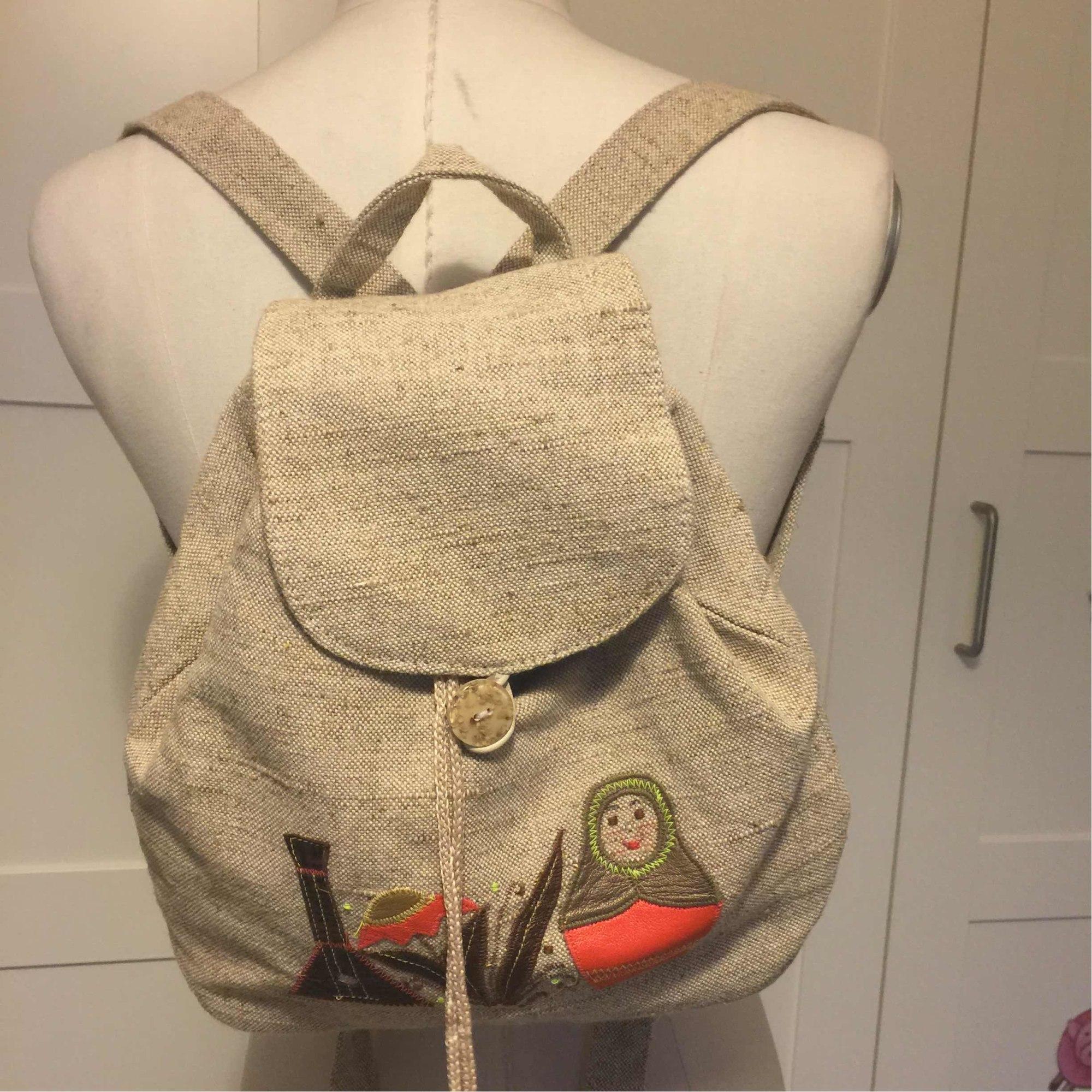 Backpack MARQUE INCONNUE Beige, camel
