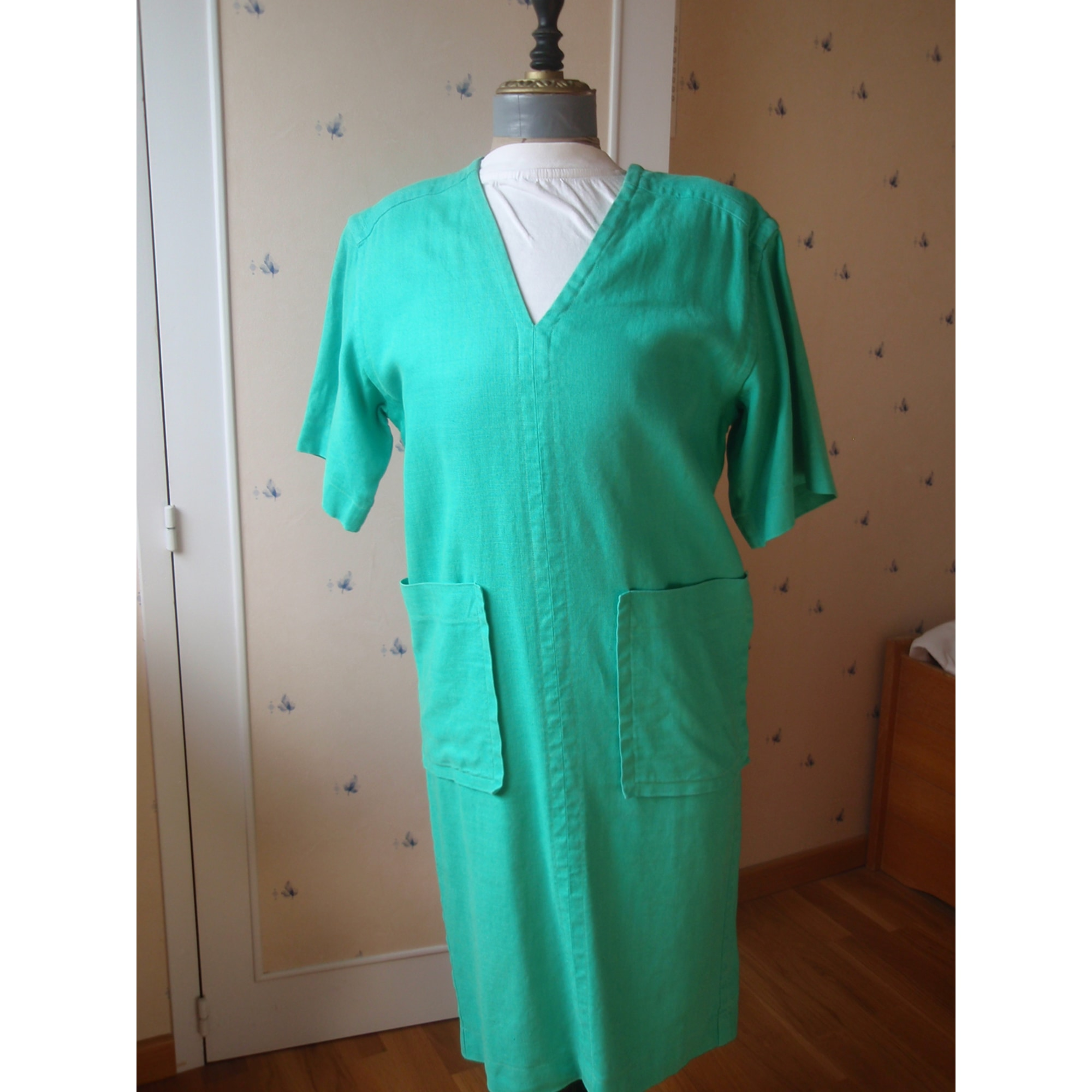 Robe tunique YVES SAINT LAURENT Vert