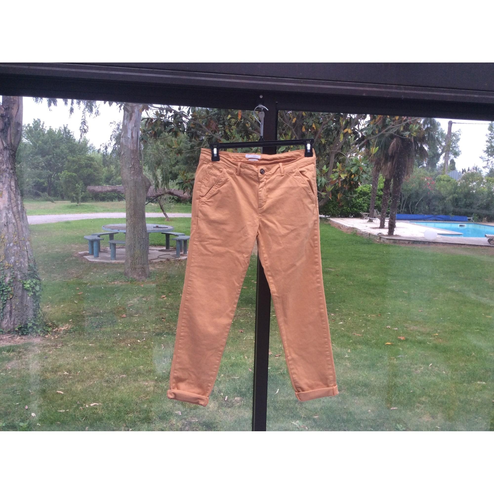 Pantalon droit REIKO Orange