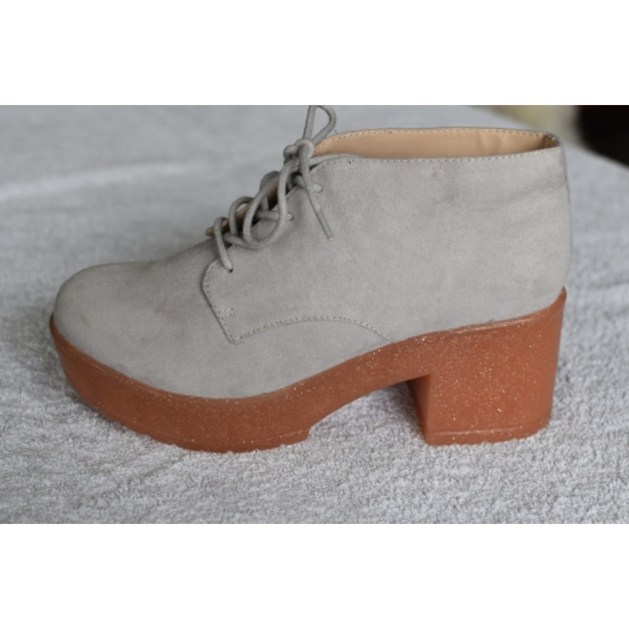 High Heel Ankle Boots ASOS Gray, charcoal