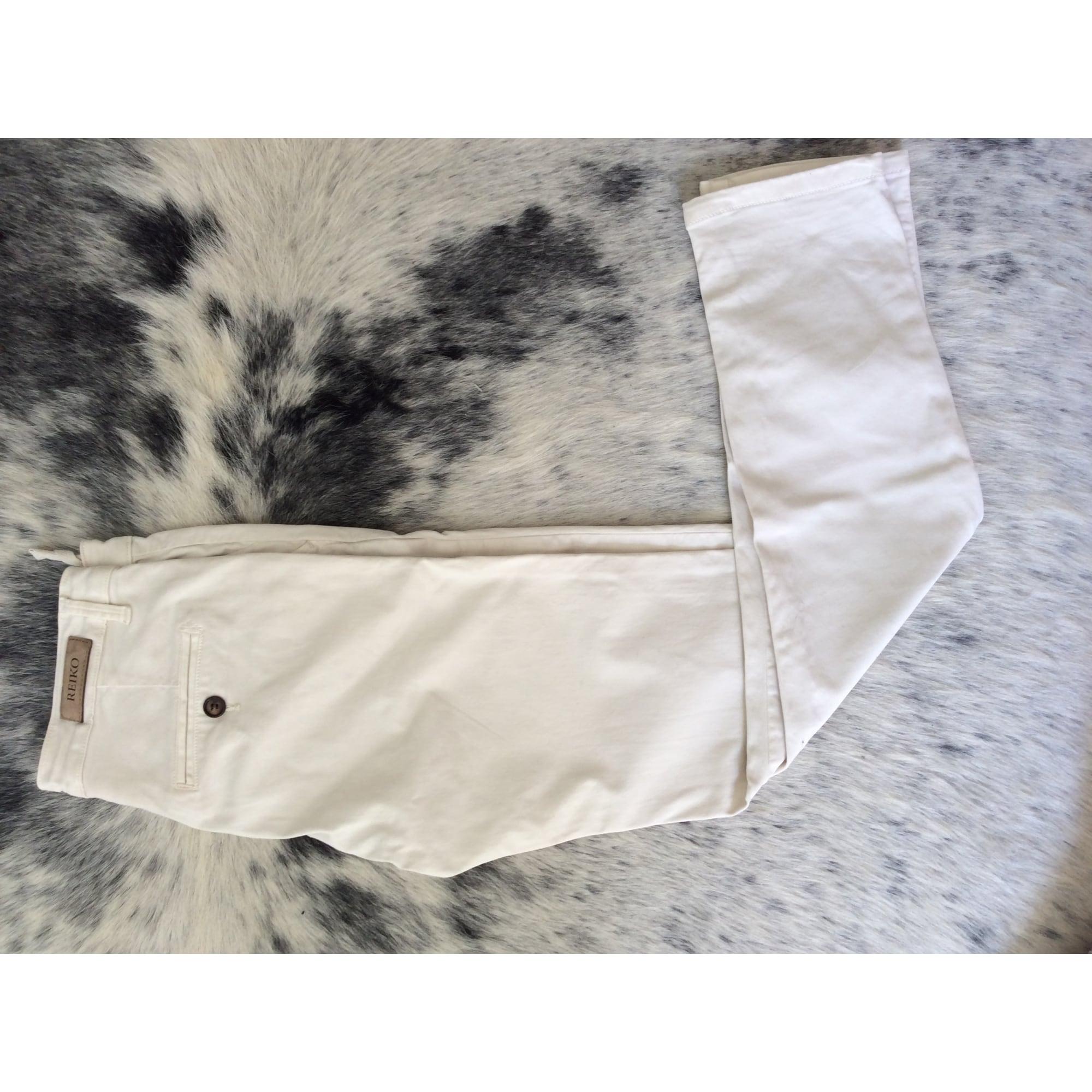 Pantalon droit REIKO Blanc, blanc cassé, écru