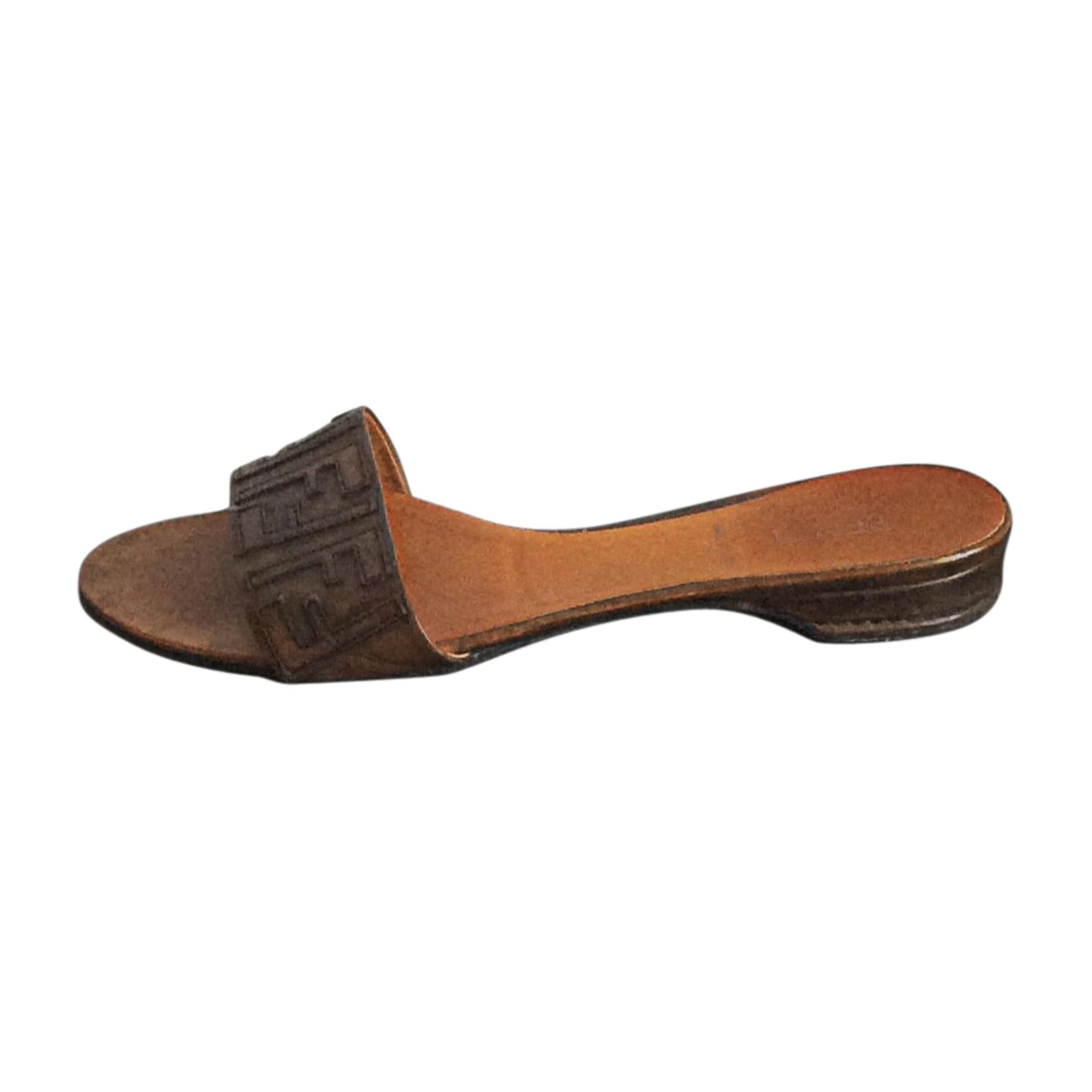 Heeled Sandals FENDI Brown