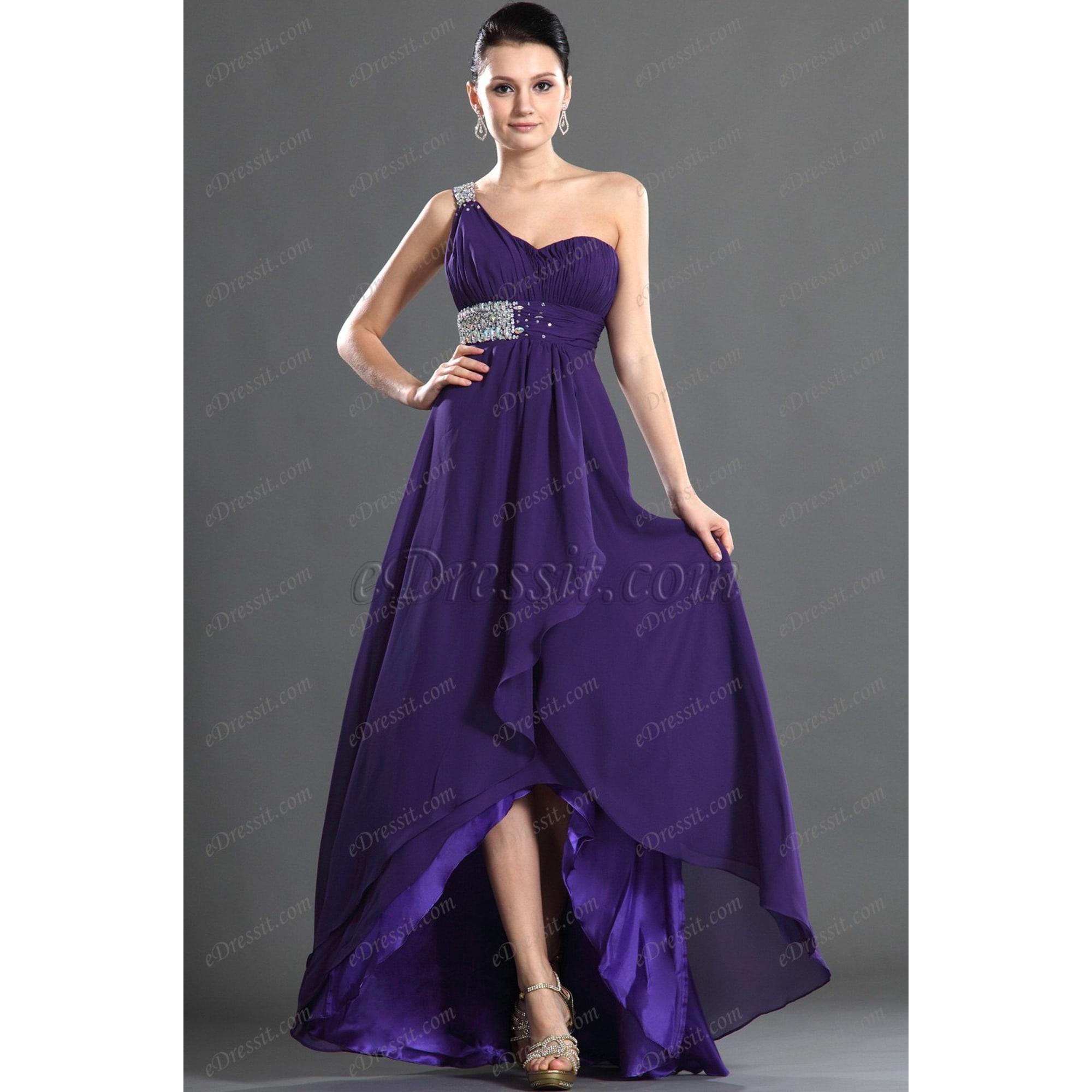 Robe longue EDRESSIT Violet, mauve, lavande