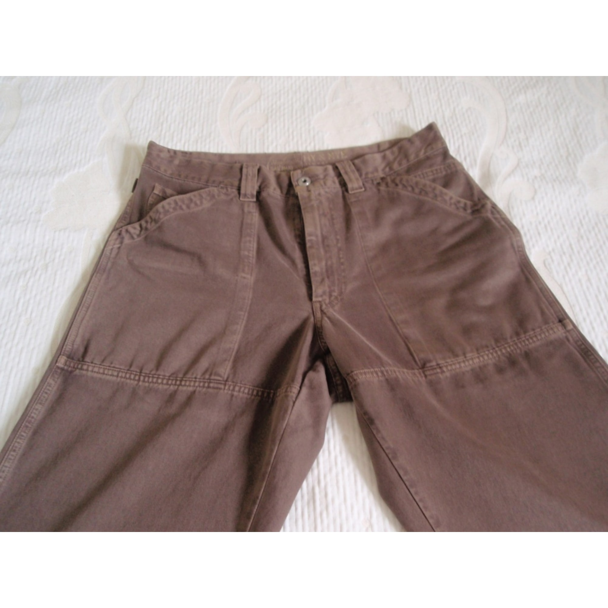 Pantalon droit MURPHY & NYE Marron