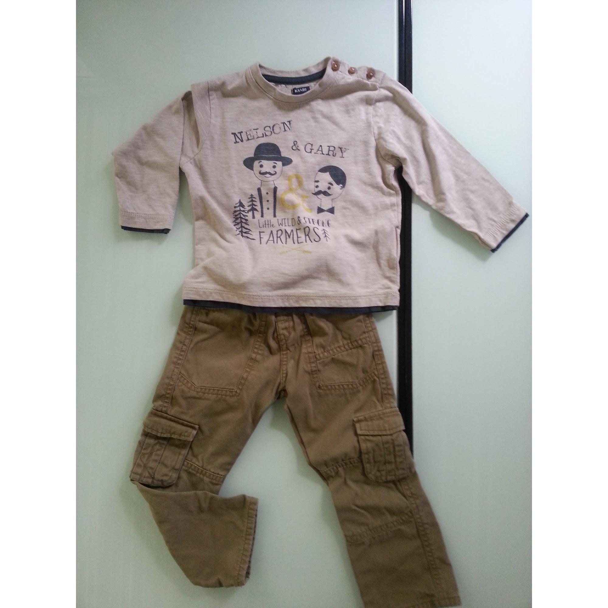 Pants Set, Outfit KIABI Beige, camel