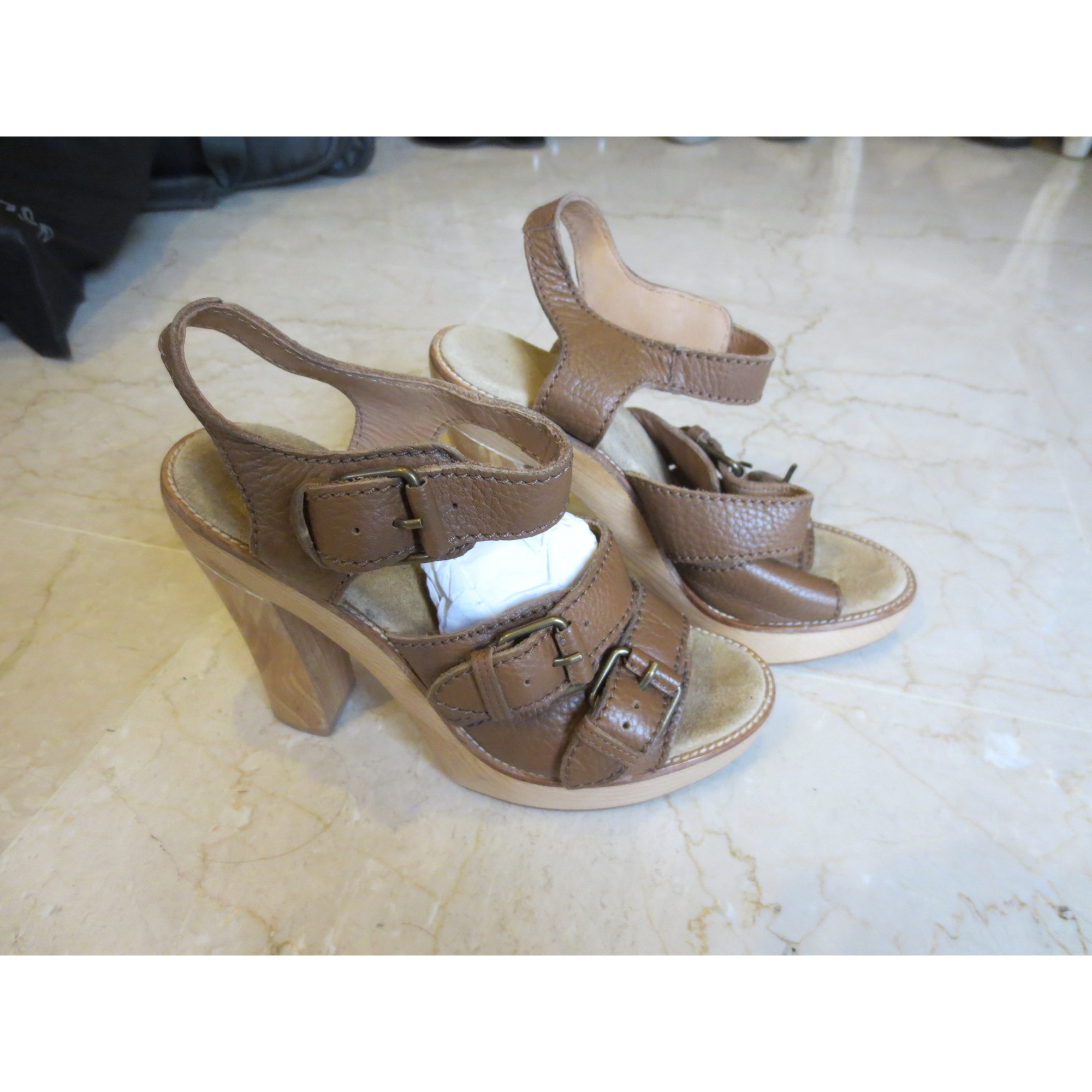 Sandales à talons L'AUTRE CHOSE Beige, camel