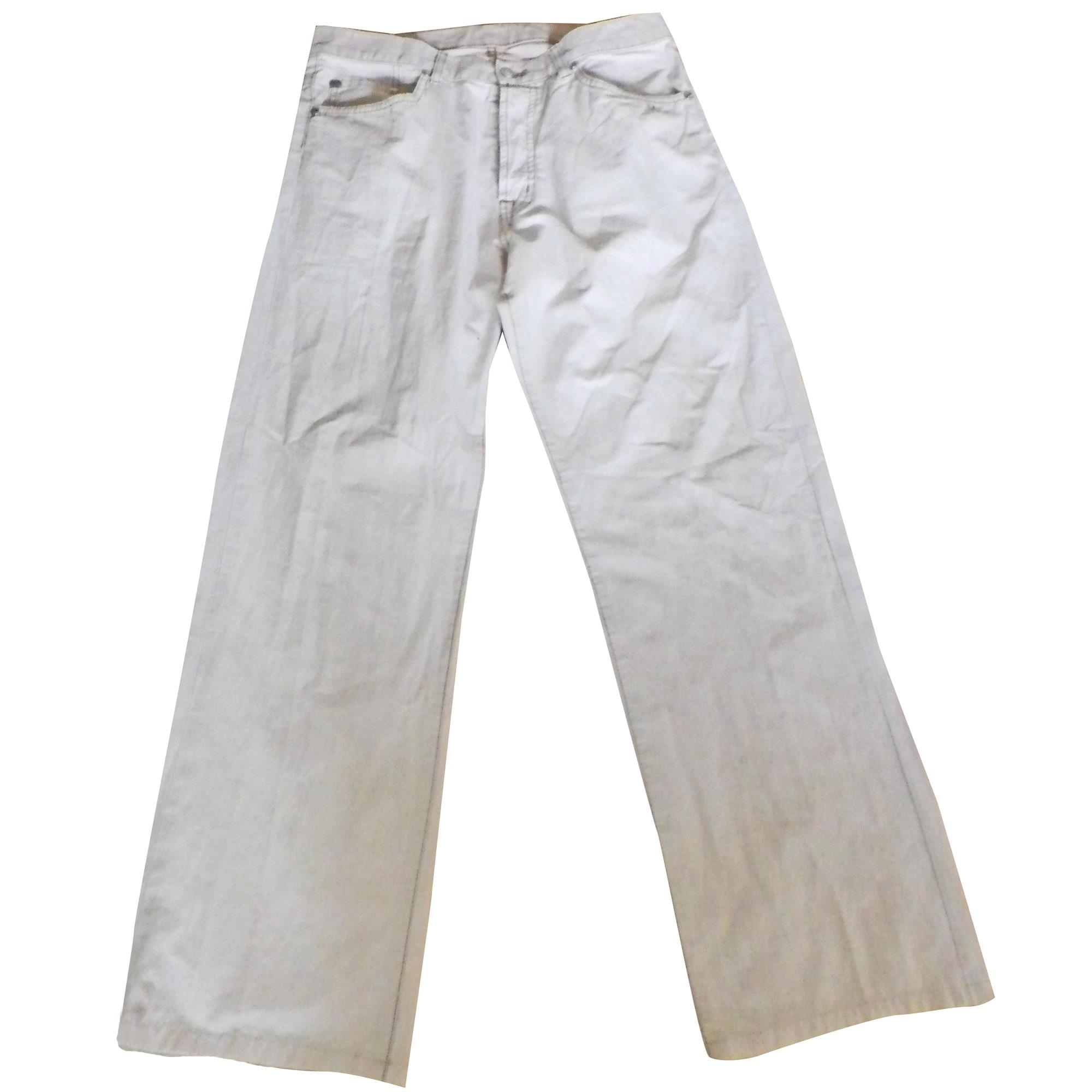 Pantalon droit LACOSTE Blanc, blanc cassé, écru