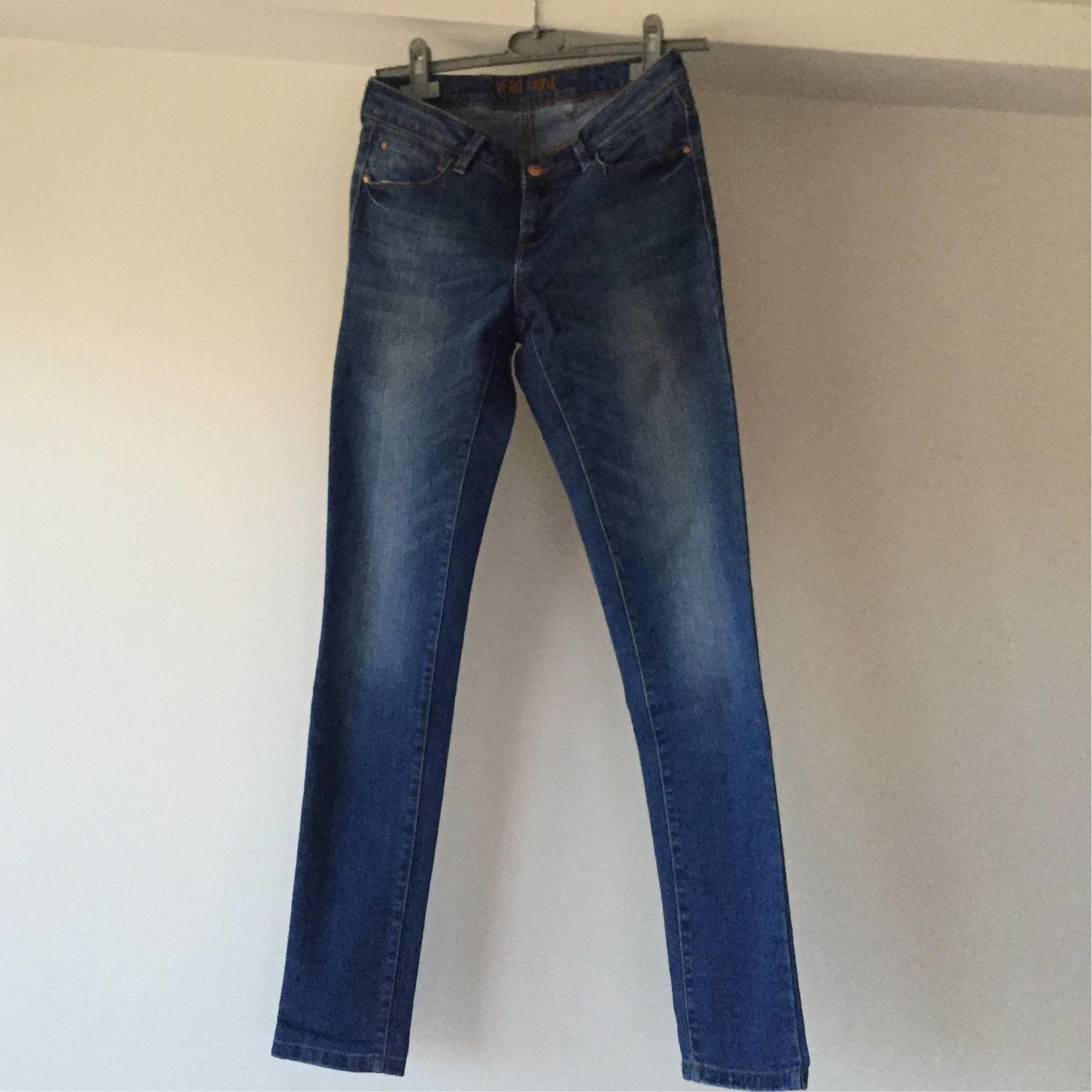 Jeans droit VERO MODA Bleu, bleu marine, bleu turquoise