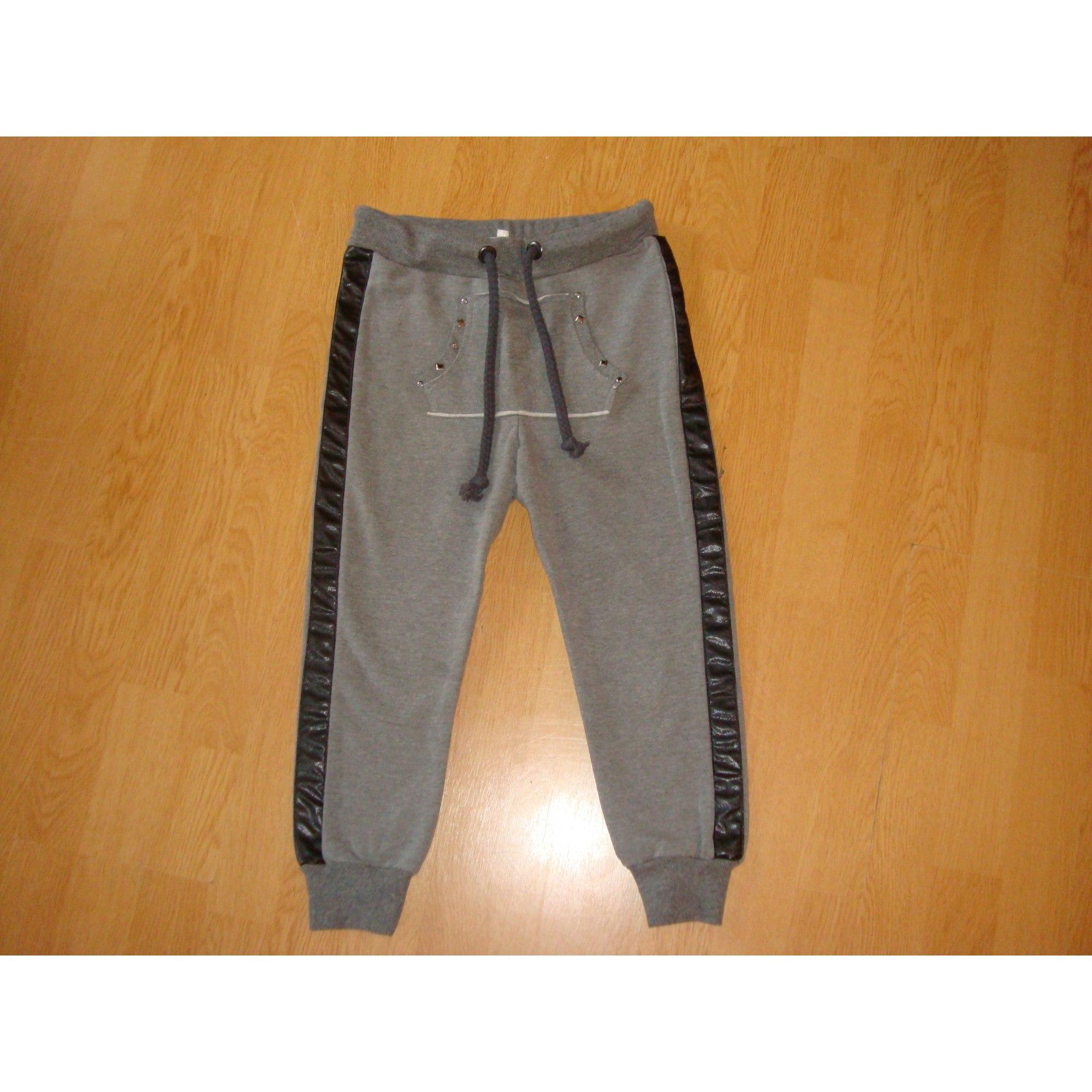 Pantalon MARQUE INCONNUE Gris, anthracite