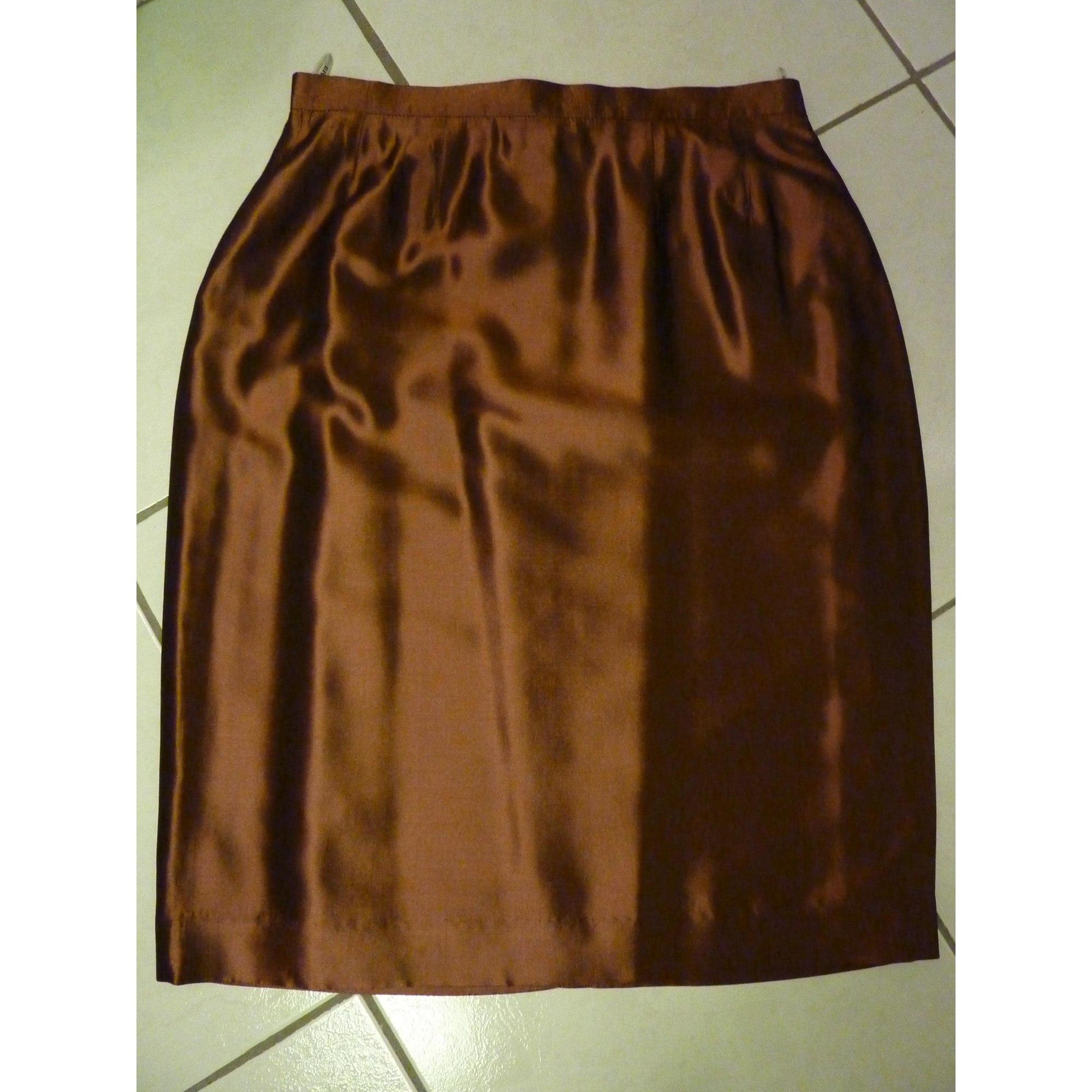 Jupe mi-longue GIVENCHY Doré, bronze, cuivre