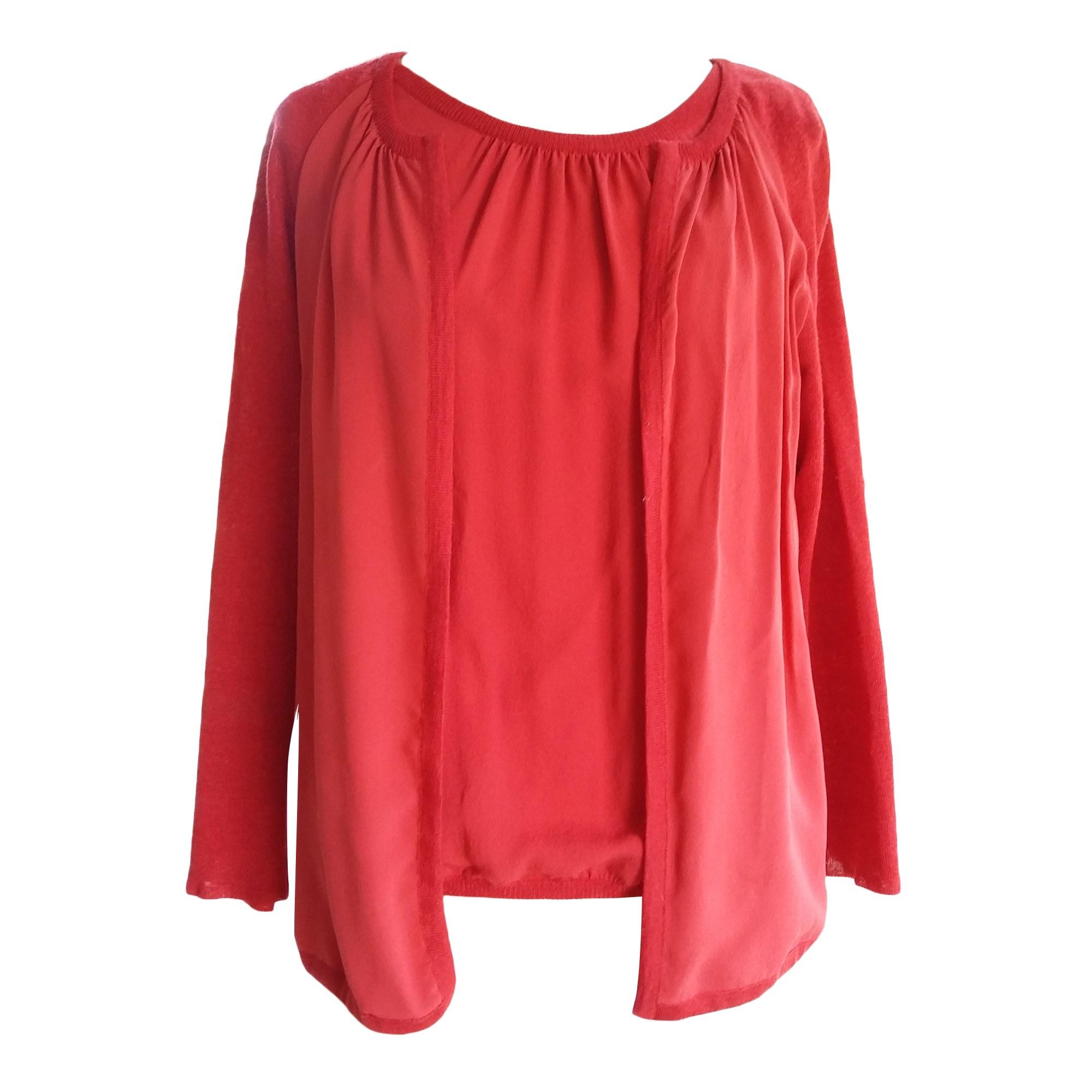 Top, tee-shirt LONGCHAMP Rouge, bordeaux