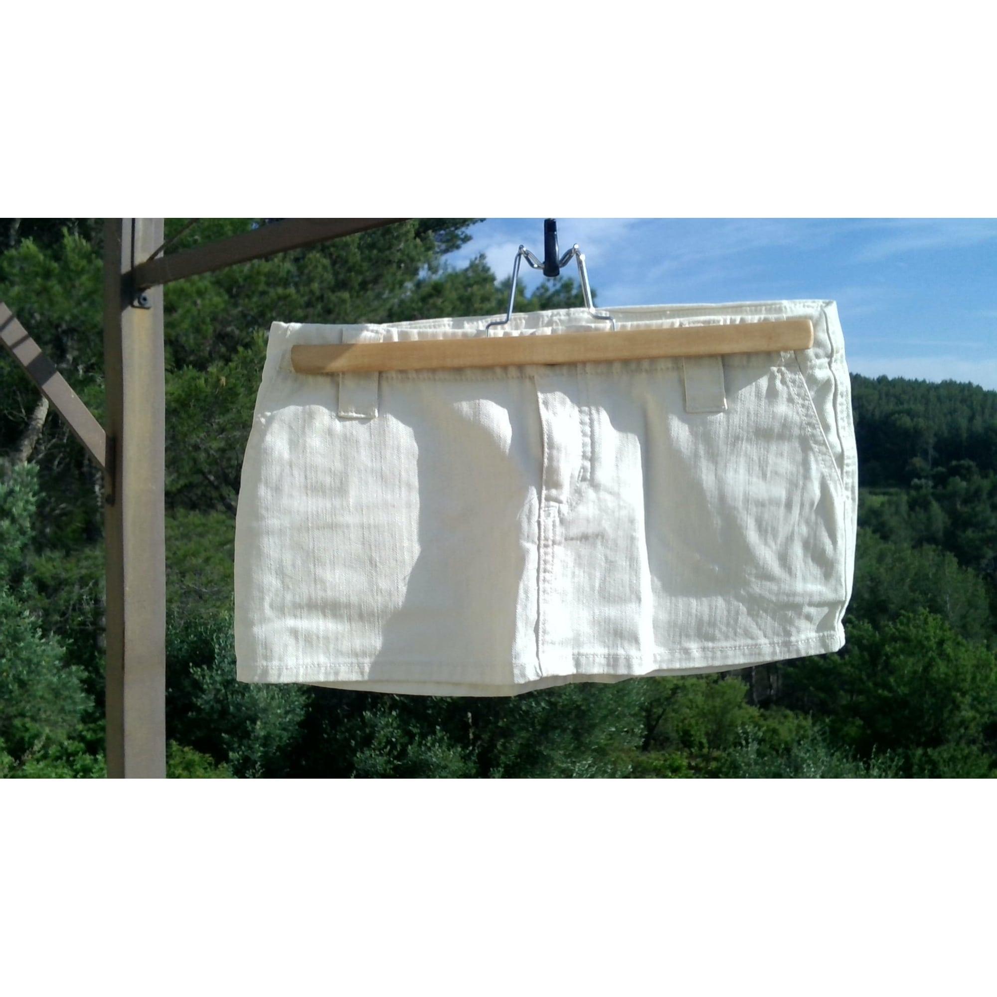 Jupe courte BEL AIR Blanc, blanc cassé, écru