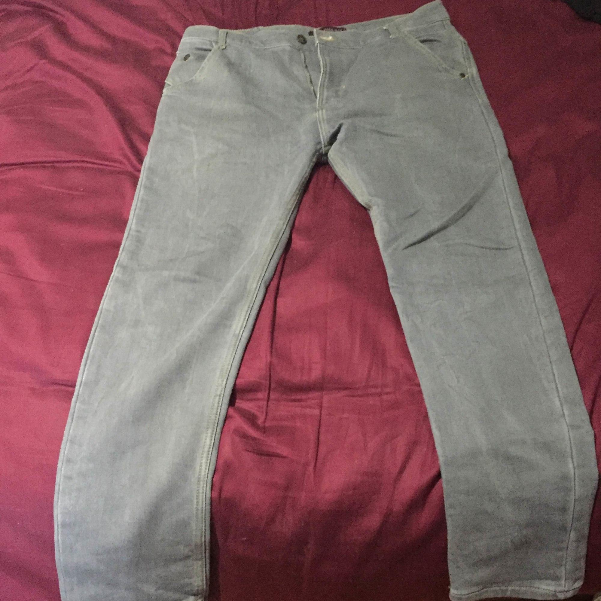 Straight Leg Jeans ZARA Gray, charcoal