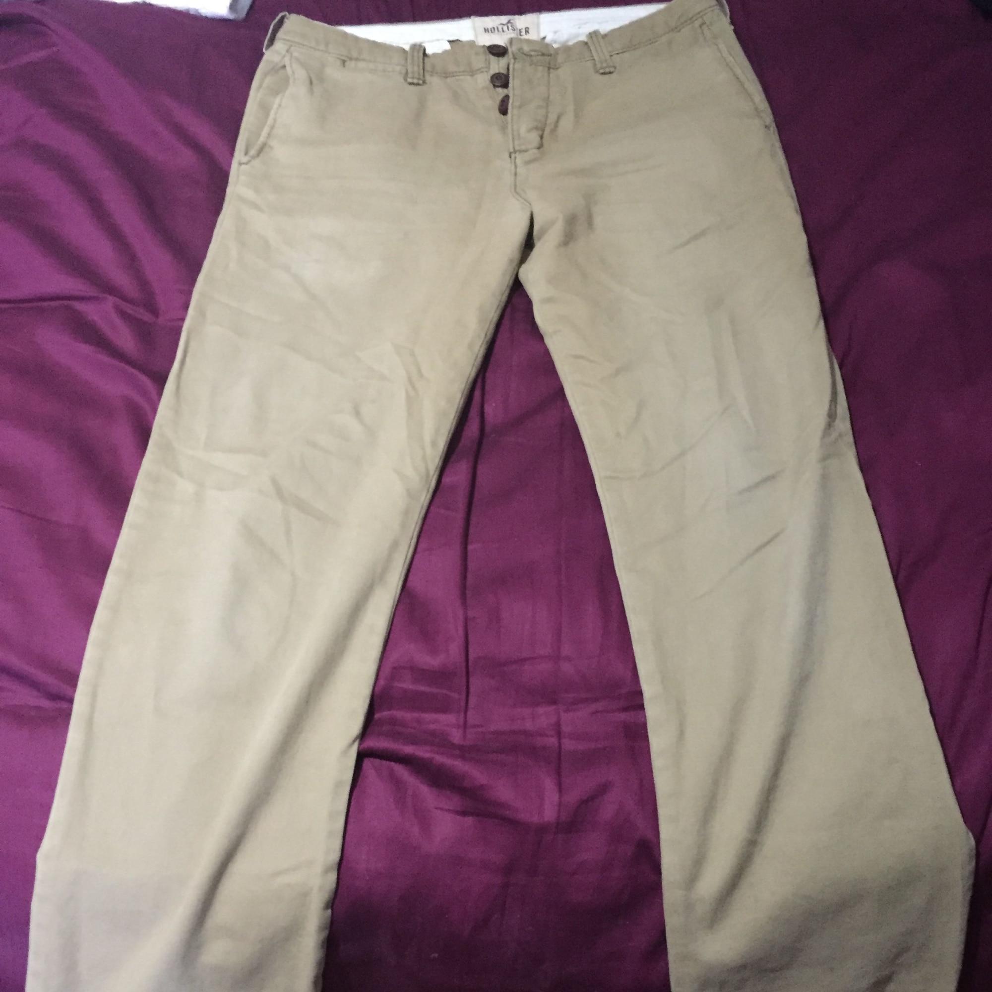 Jeans droit HOLLISTER Beige, camel