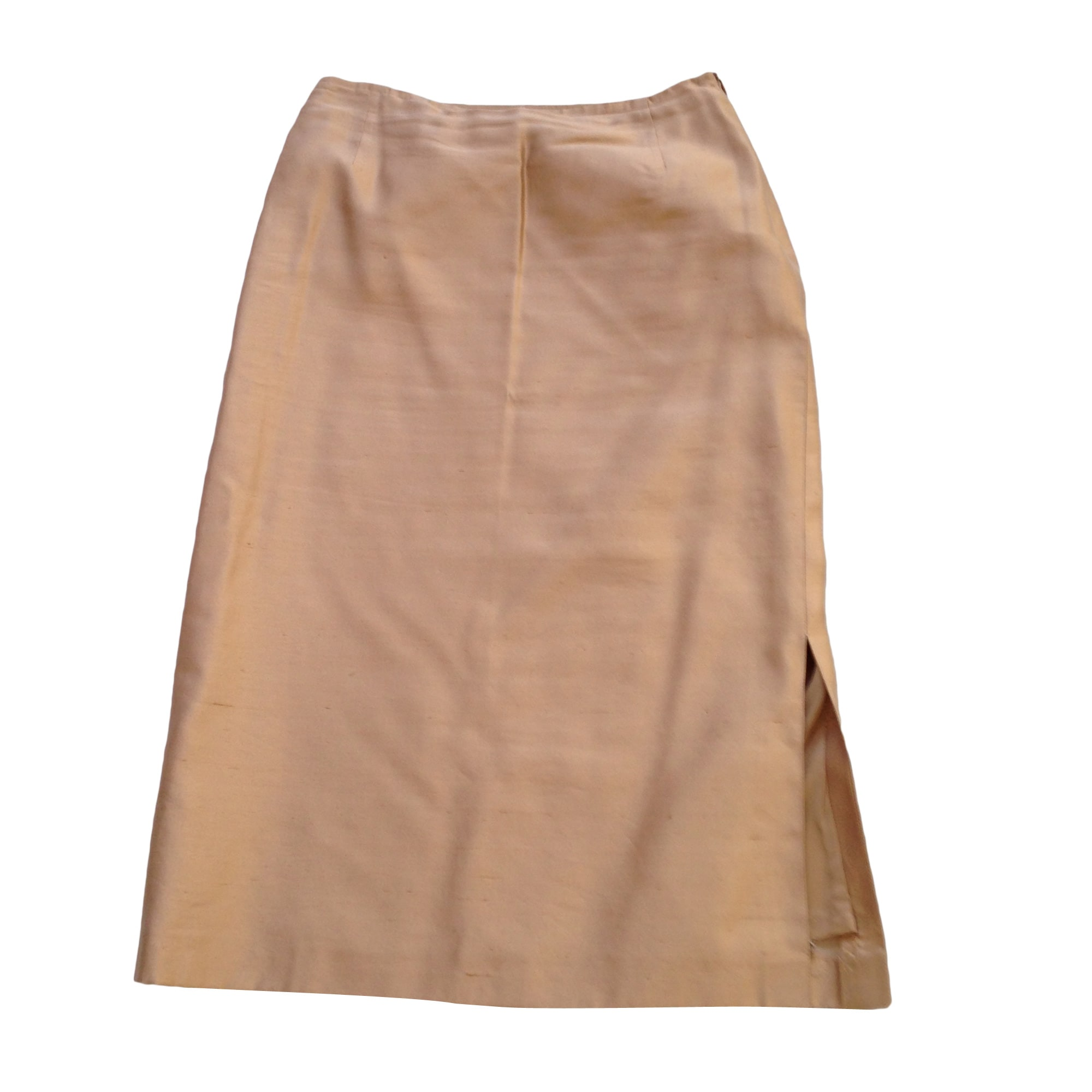 Jupe mi-longue MAX MARA Doré, bronze, cuivre