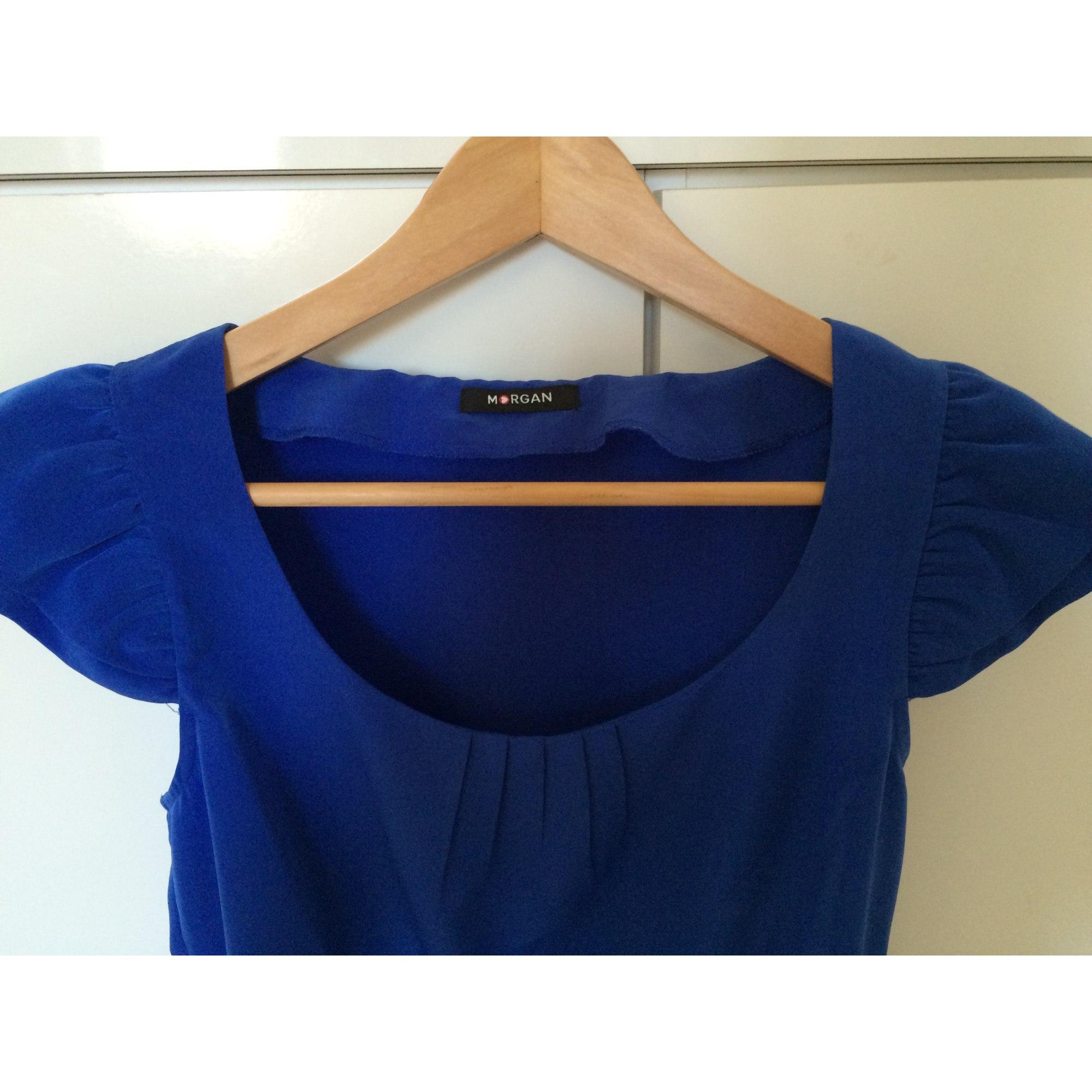 Blouse MORGAN Bleu, bleu marine, bleu turquoise