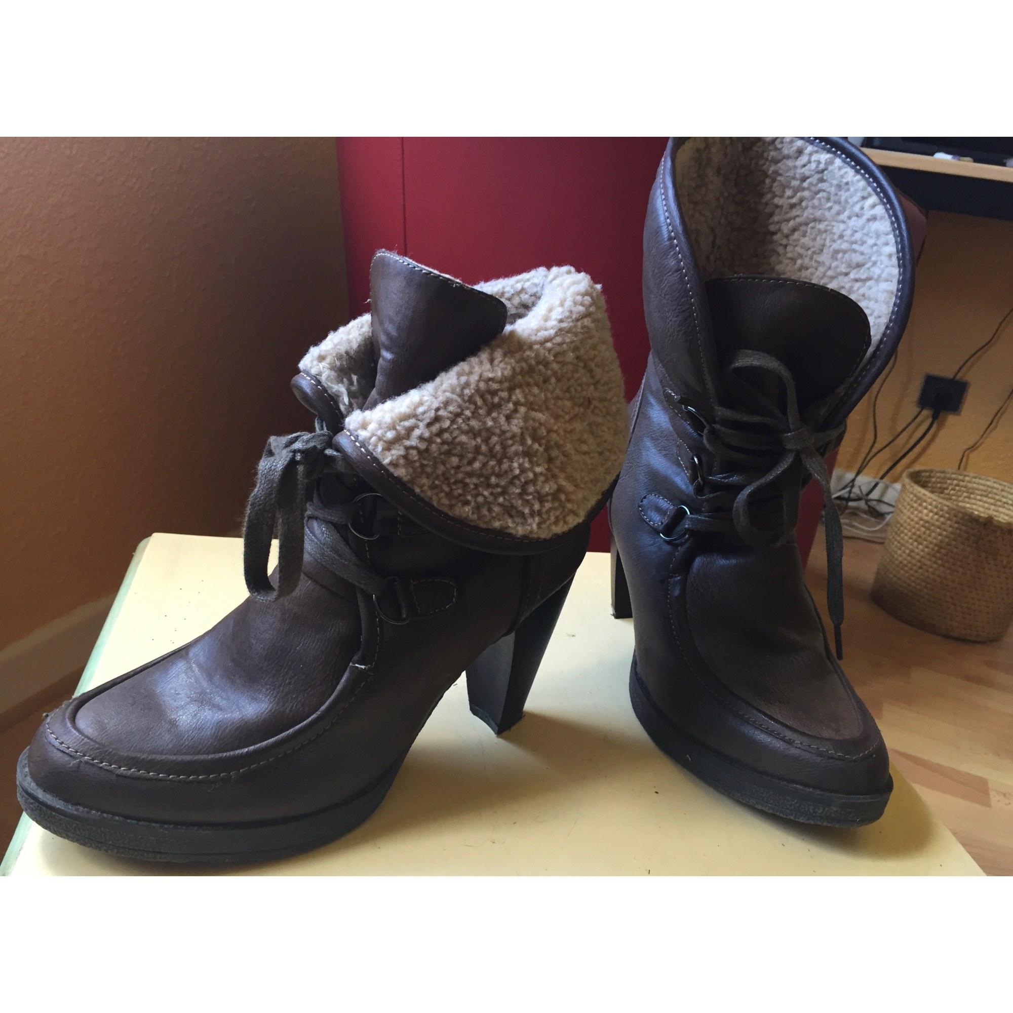 Bottines & low boots à talons MARCO TOZZI Marron