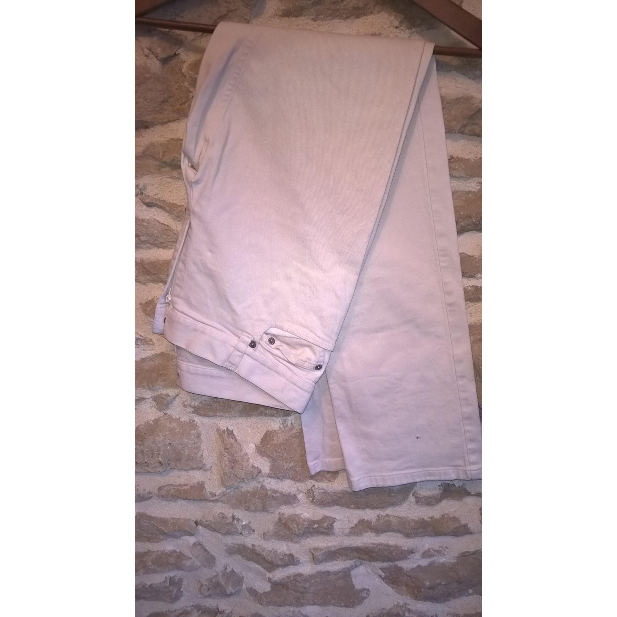 Pantalon droit AGNÈS B. Blanc, blanc cassé, écru