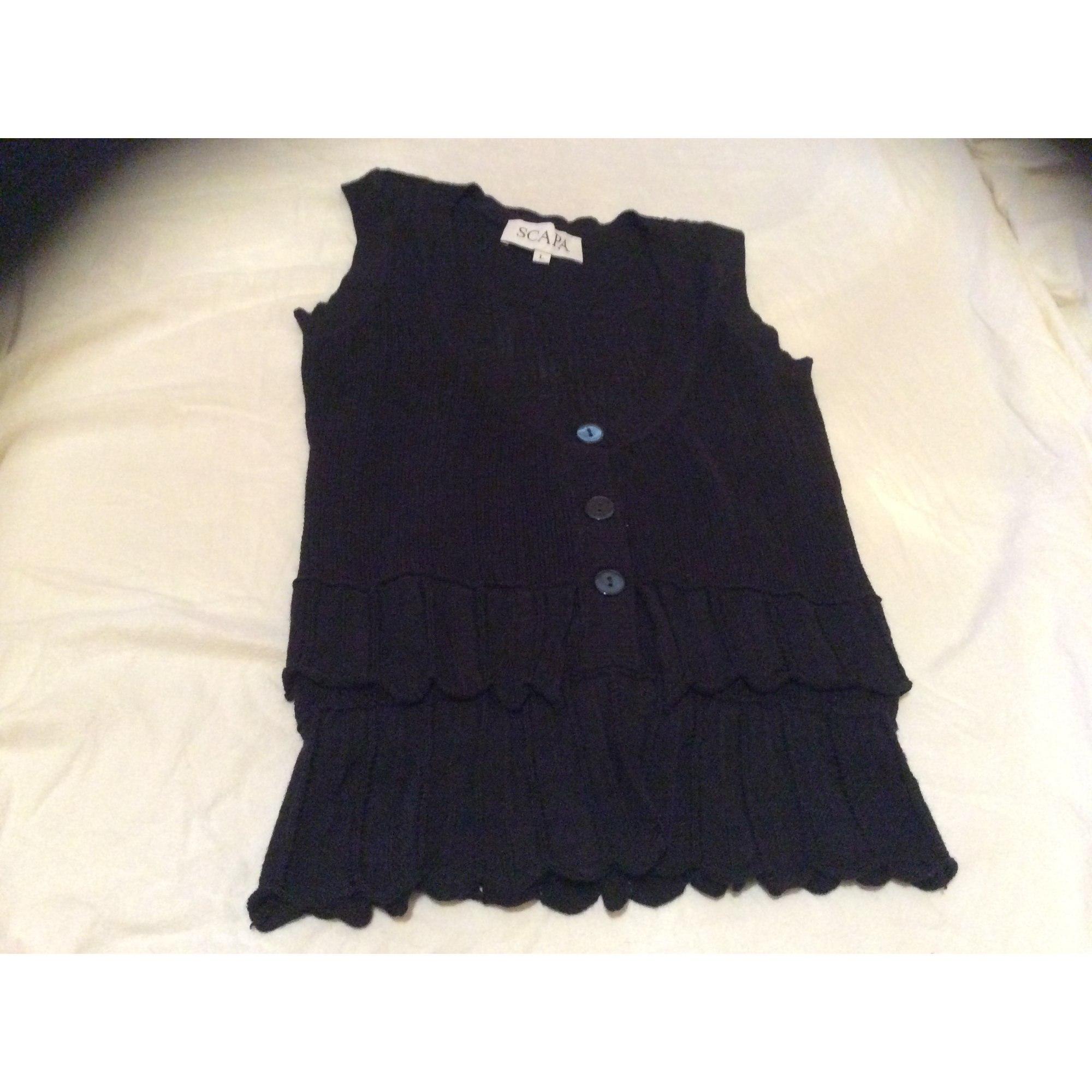 Top, tee-shirt SCAPA Noir