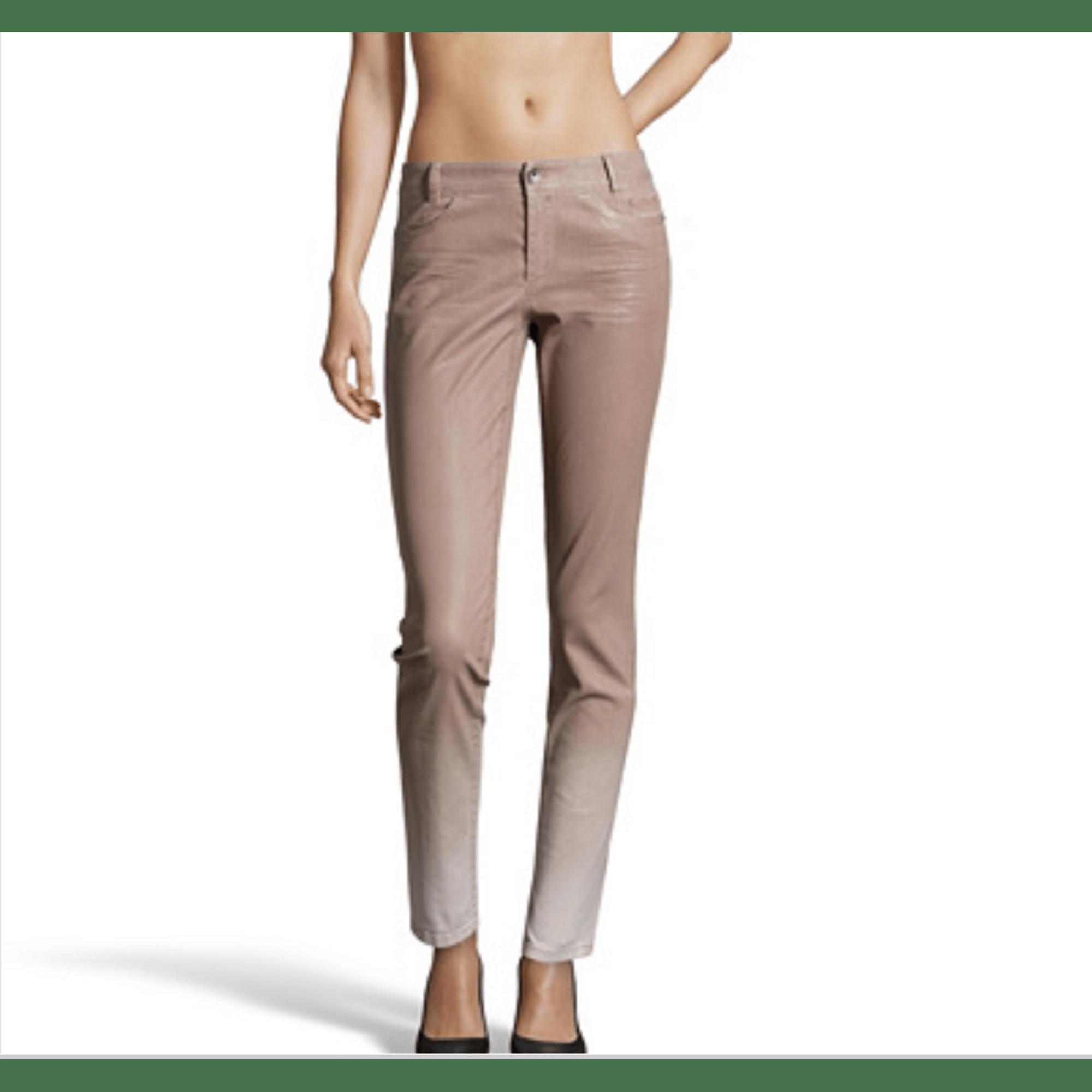 Pantalon droit MARCCAIN Marron clair et Blanc