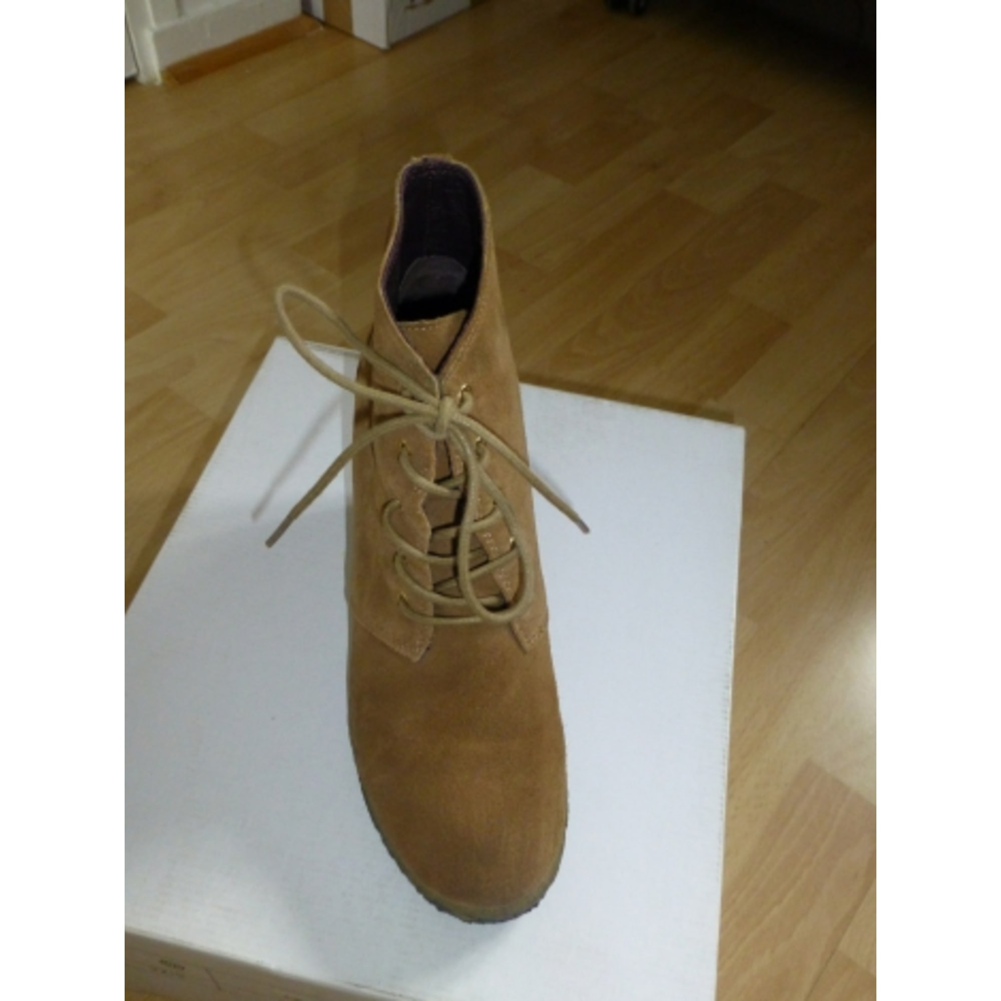 Bottines & low boots à compensés MAJE Beige, camel