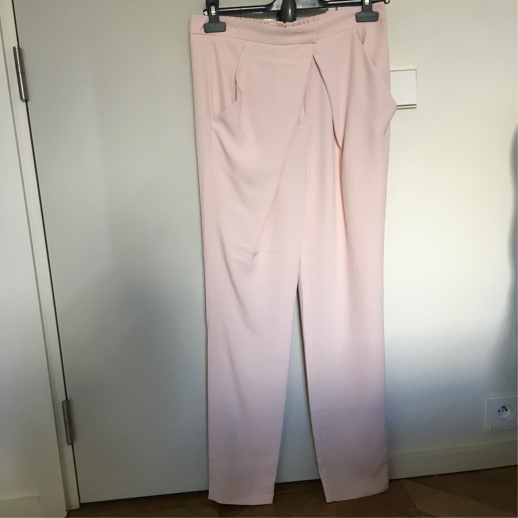 Pantalon carotte MAJE Rose, fuschia, vieux rose