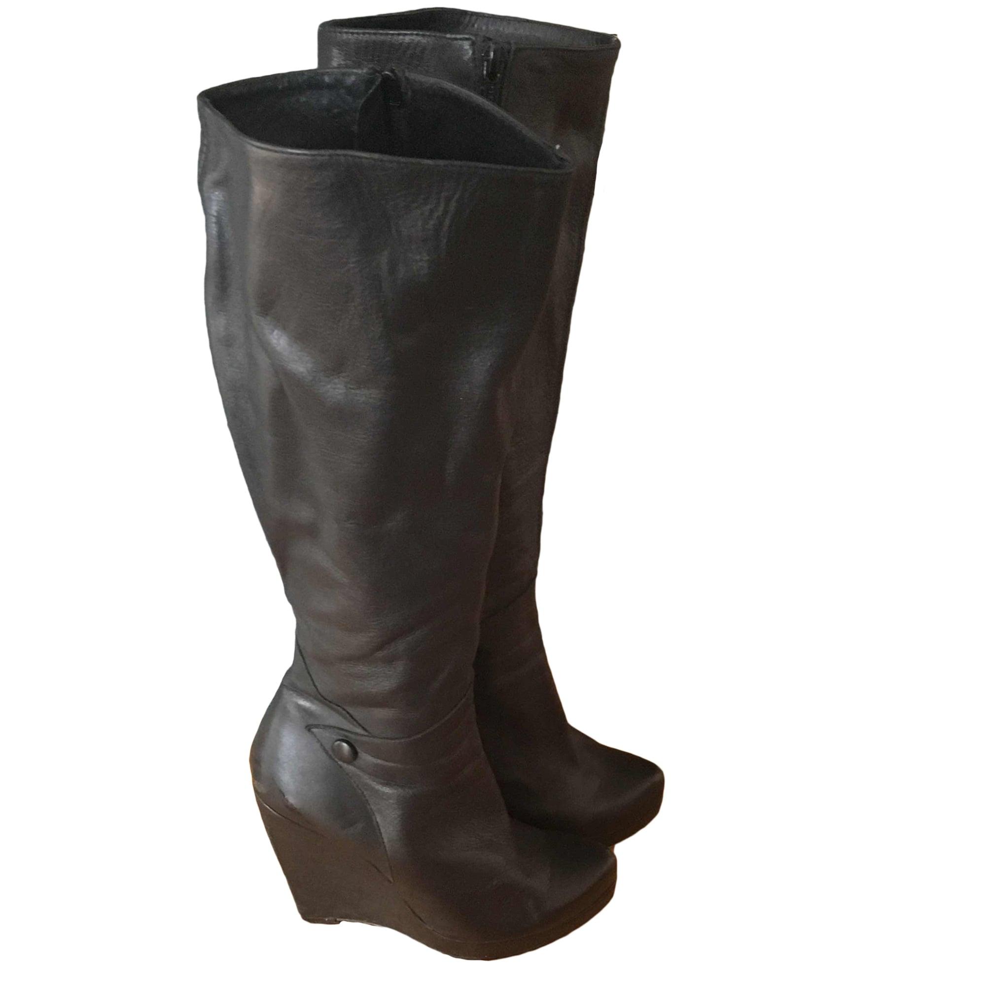 bottes compensées marque buffalo en cuir