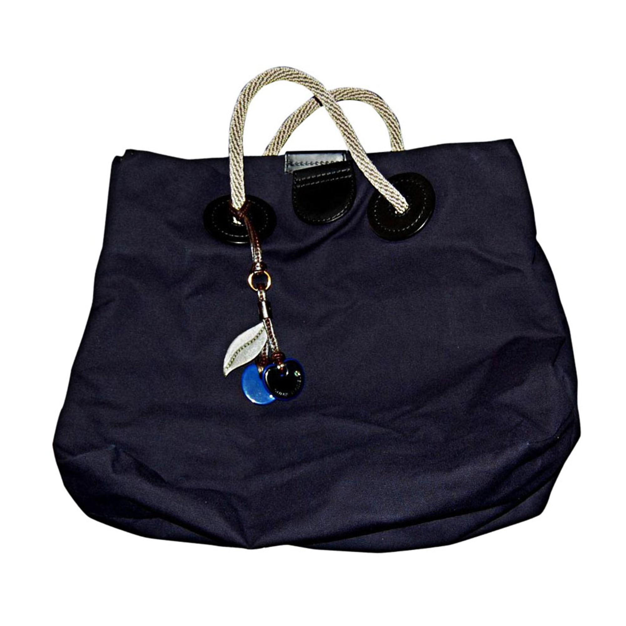 Stoffhandtasche SONIA RYKIEL Blau, marineblau, türkisblau